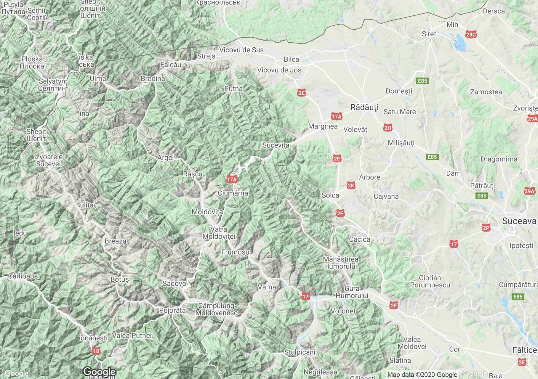 Obcina Mare Mountains, Interactive tourist map