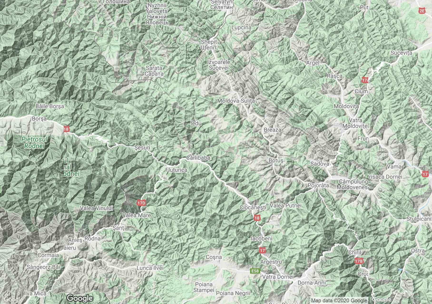 Obcina Mestecăniş, Harta turistică interactivă