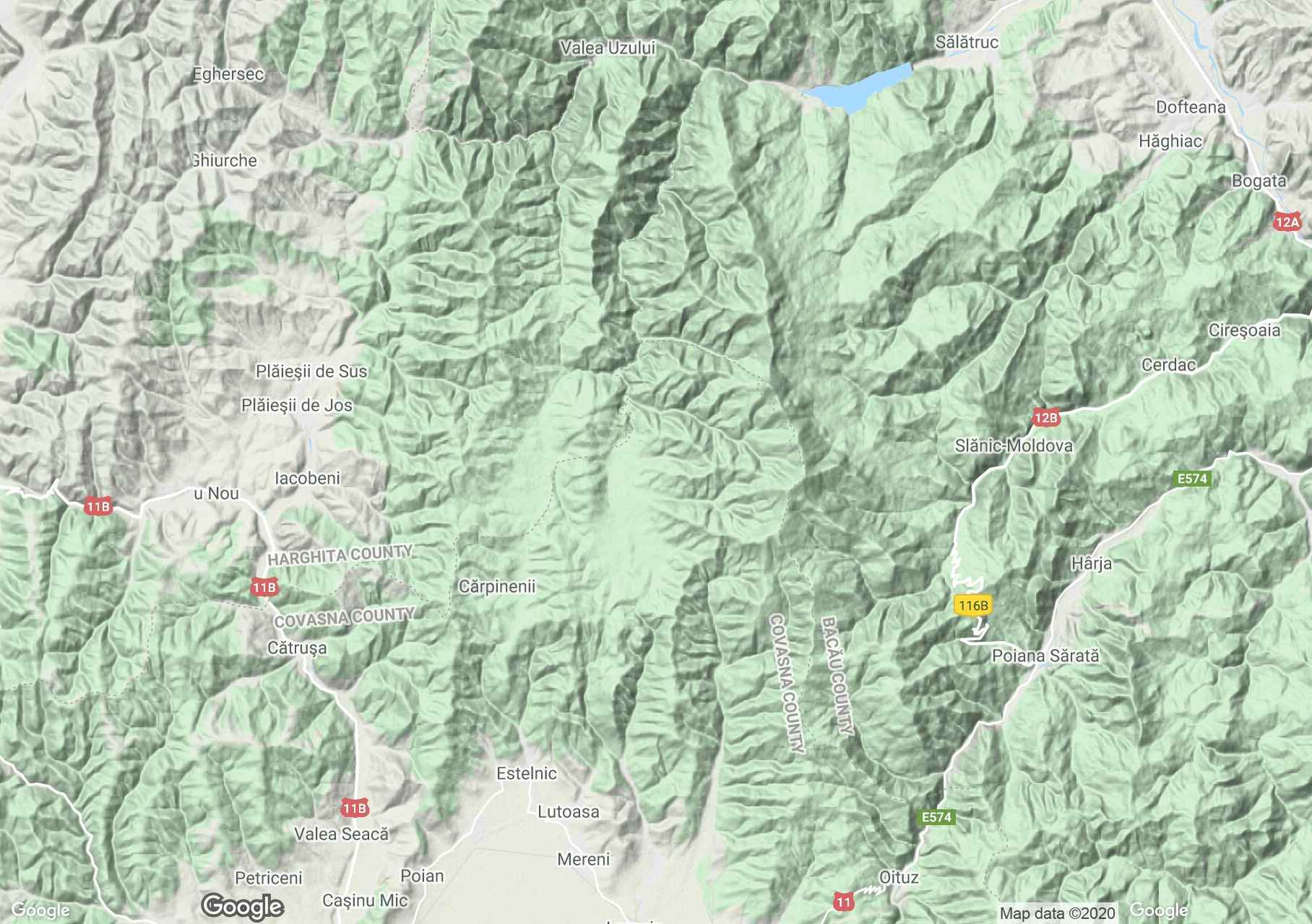 Nemira Mountains, Interactive tourist map