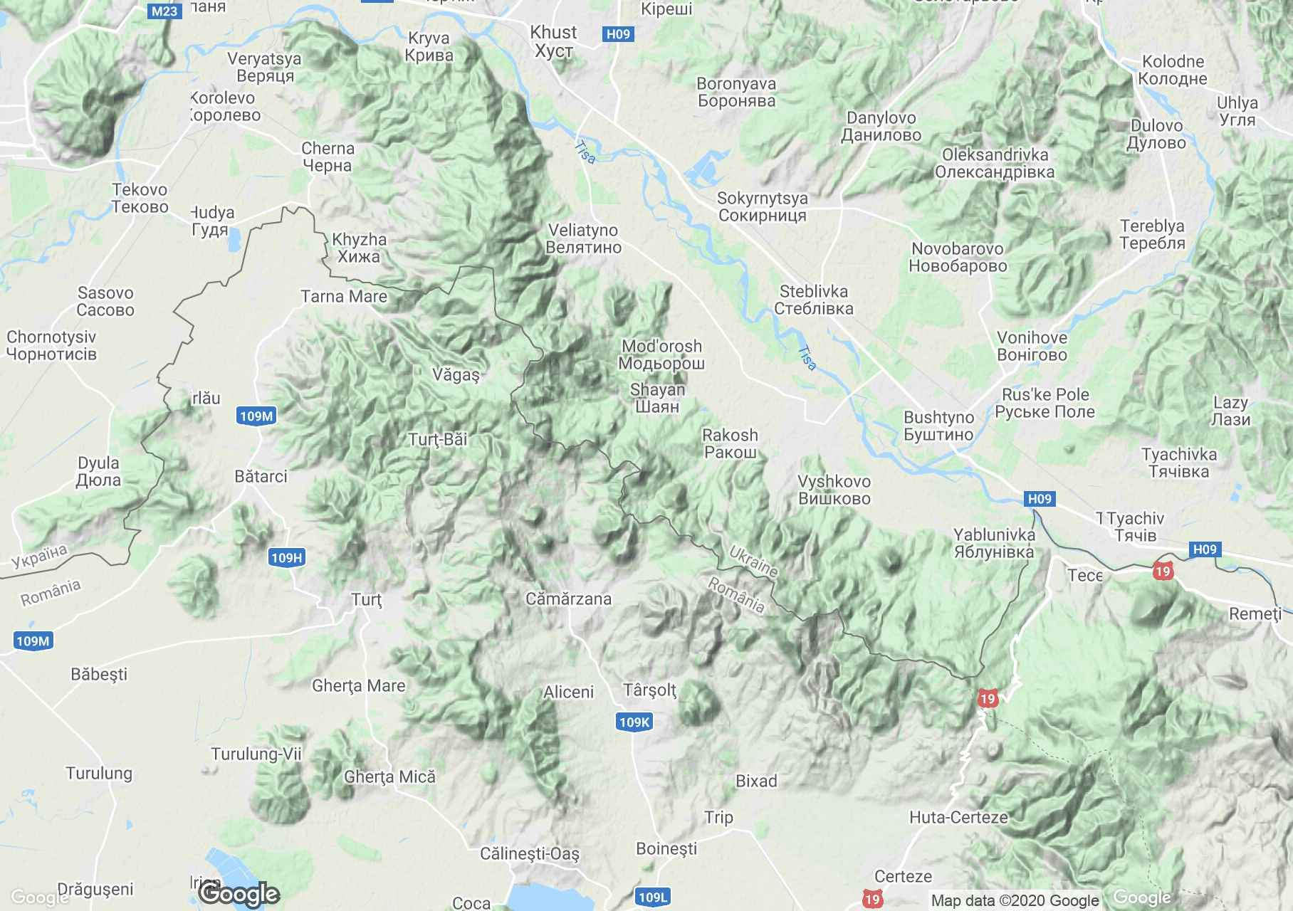 Oaş Mountains, Interactive tourist map