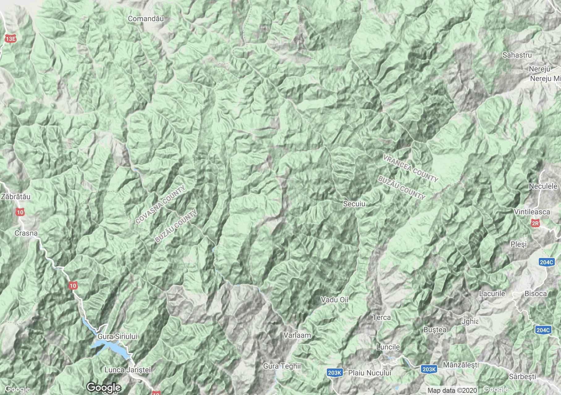 Penteleu Mountains, Interactive tourist map
