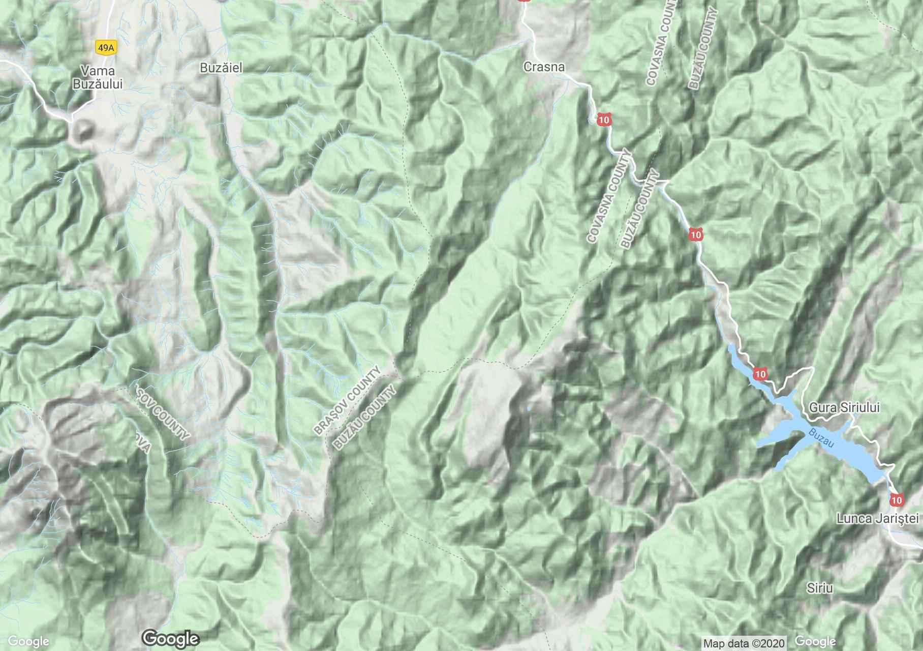 Munţii Tătaru-Siriu, Harta turistică interactivă