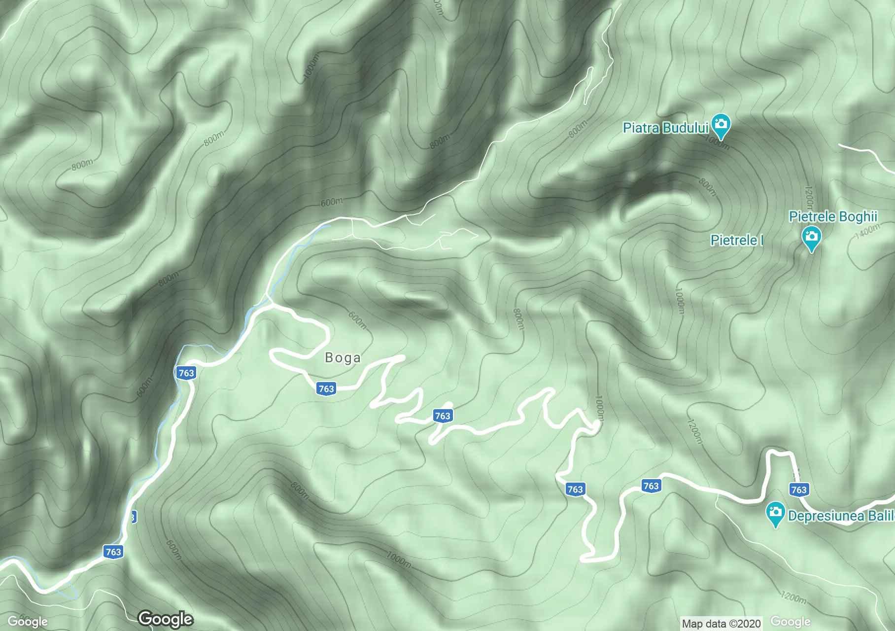 Boga interaktív turista térképe.
