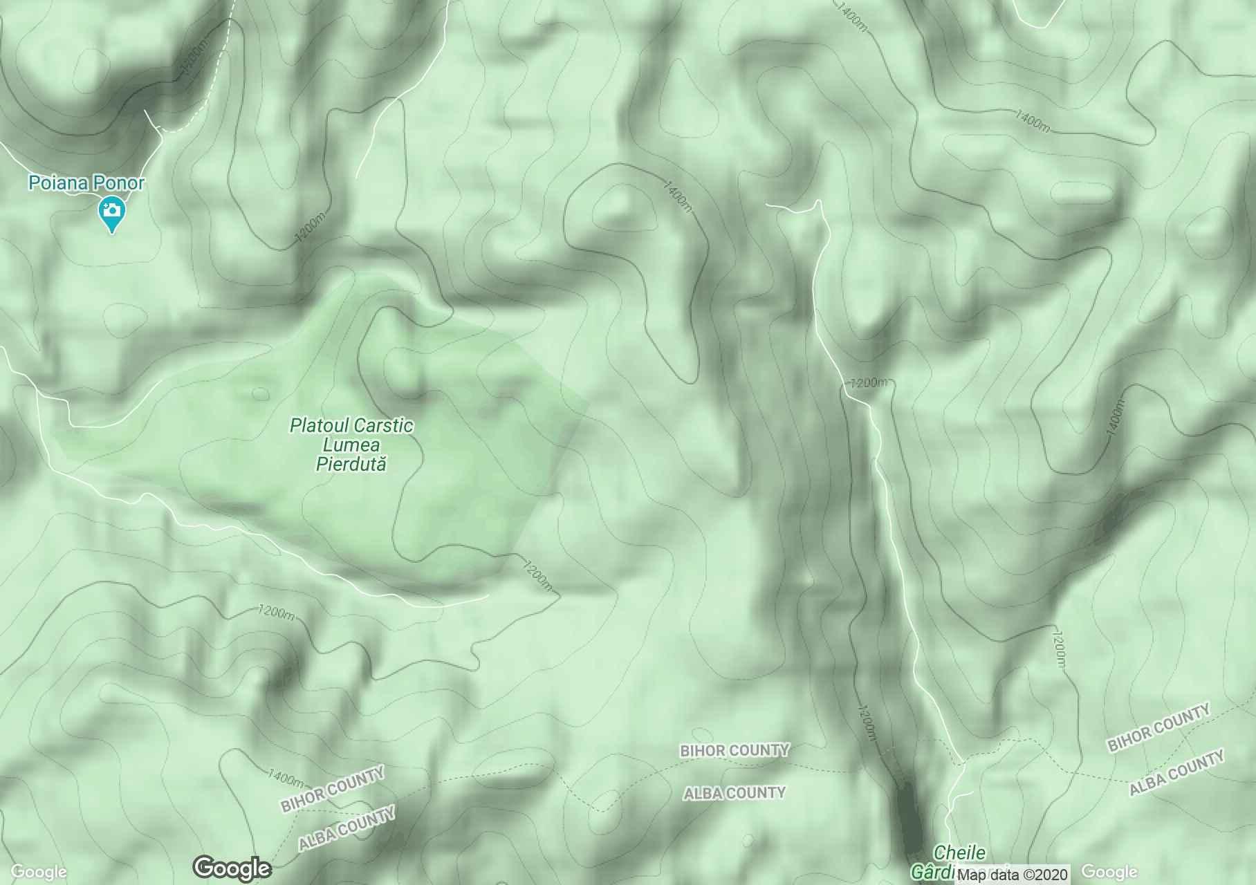 Izvorul rece, Harta turistică interactivă
