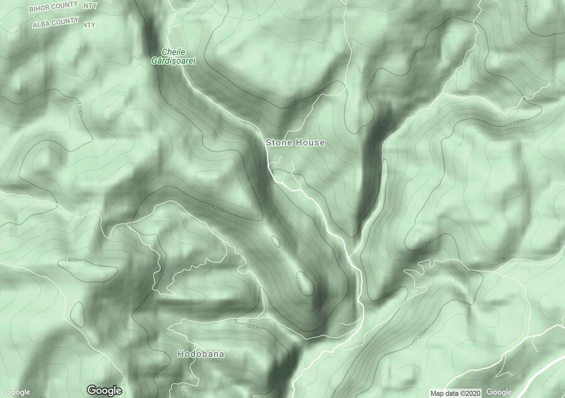 Kőház interaktív turista térképe.