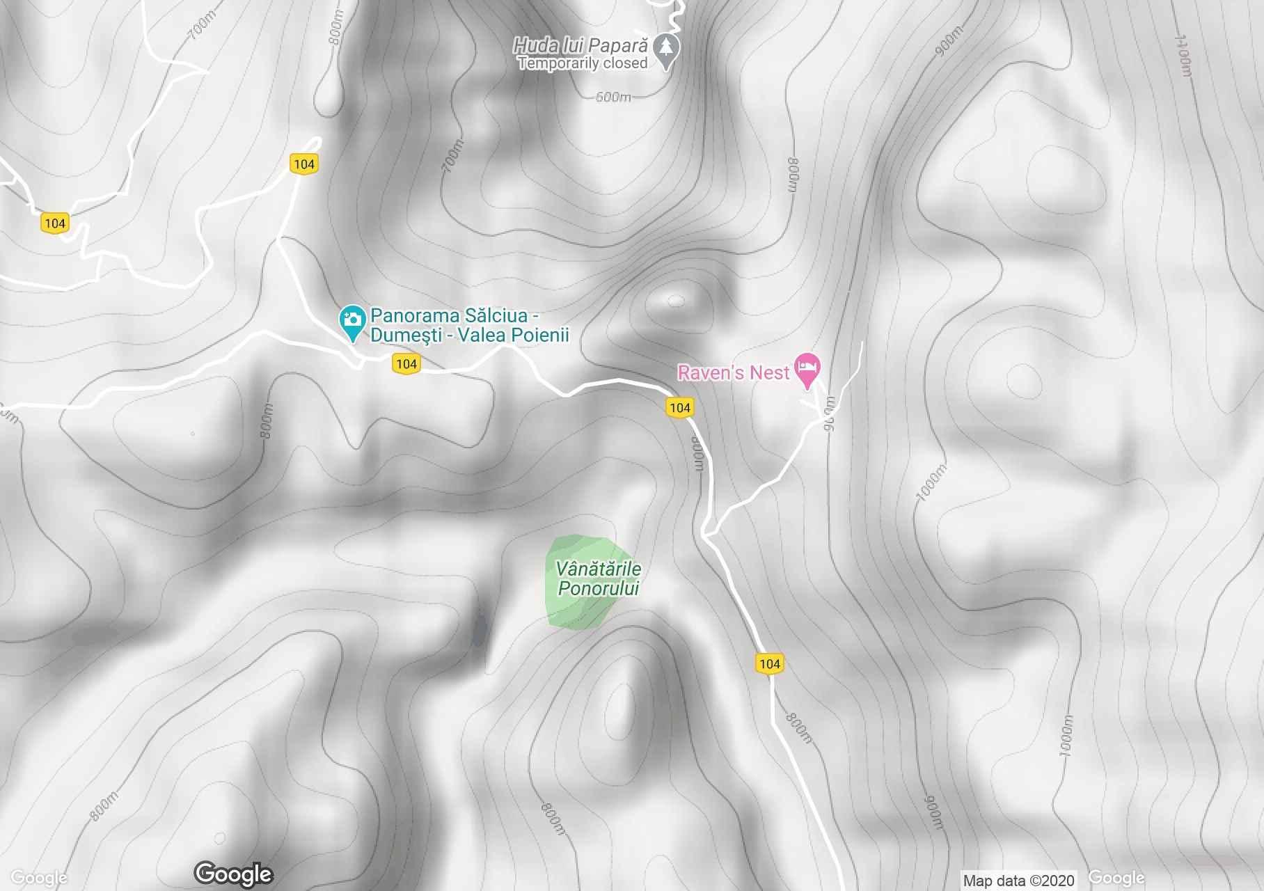 Vânătările Ponorului, Harta turistică interactivă