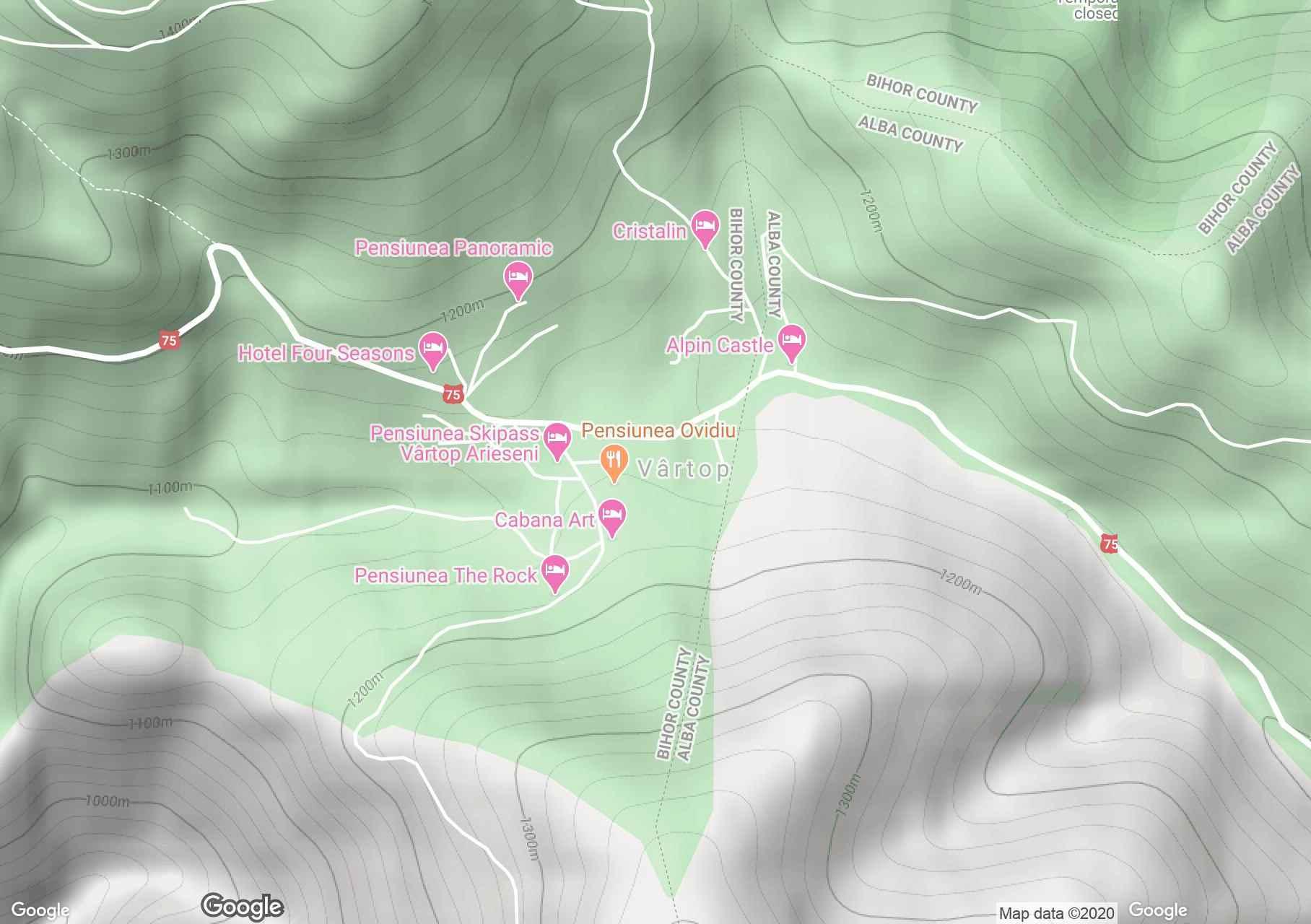 Vârtop, Harta turistică interactivă