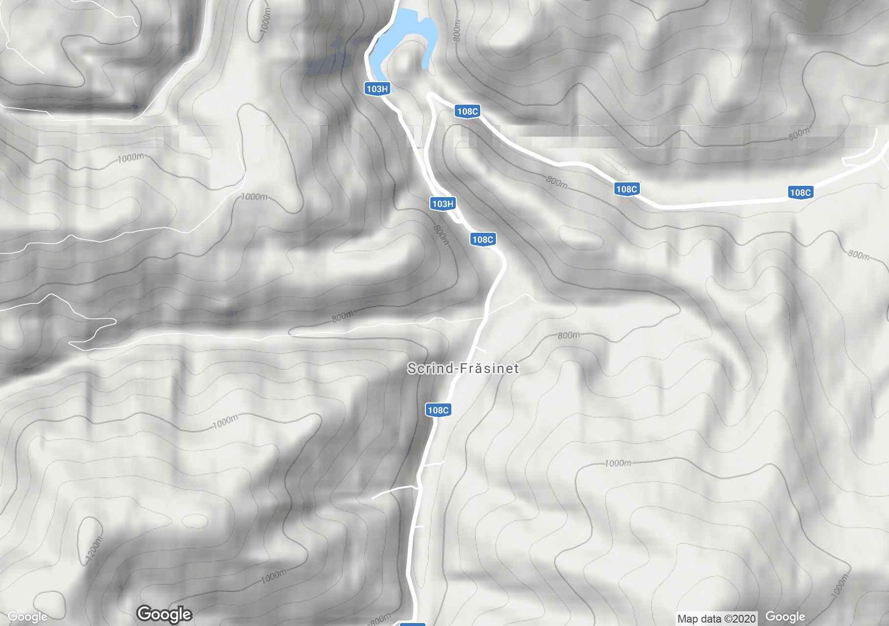 Scrind-Frăsinet, Harta turistică interactivă
