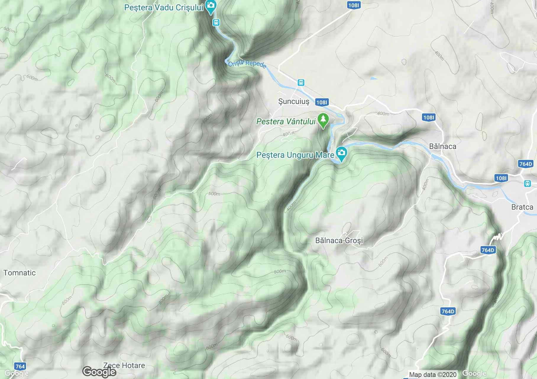 Şuncuiuş, Harta turistică interactivă