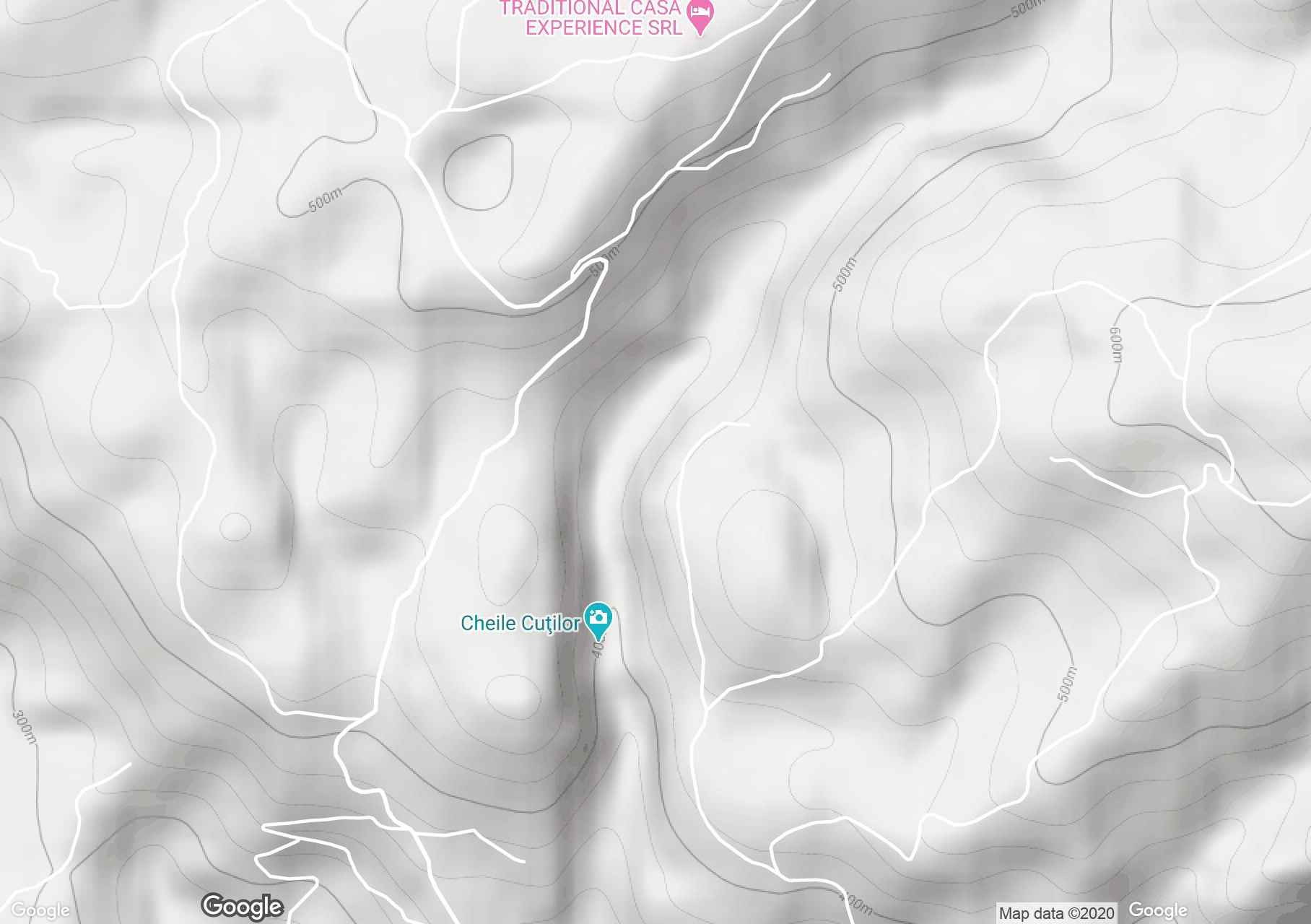 Cutilor gorge, Interactive tourist map