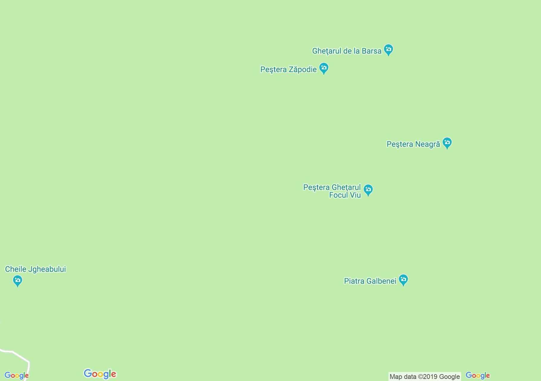 Hartă Bihor-Vlădeasa, Munţii Apuseni: Circuitul Galbena