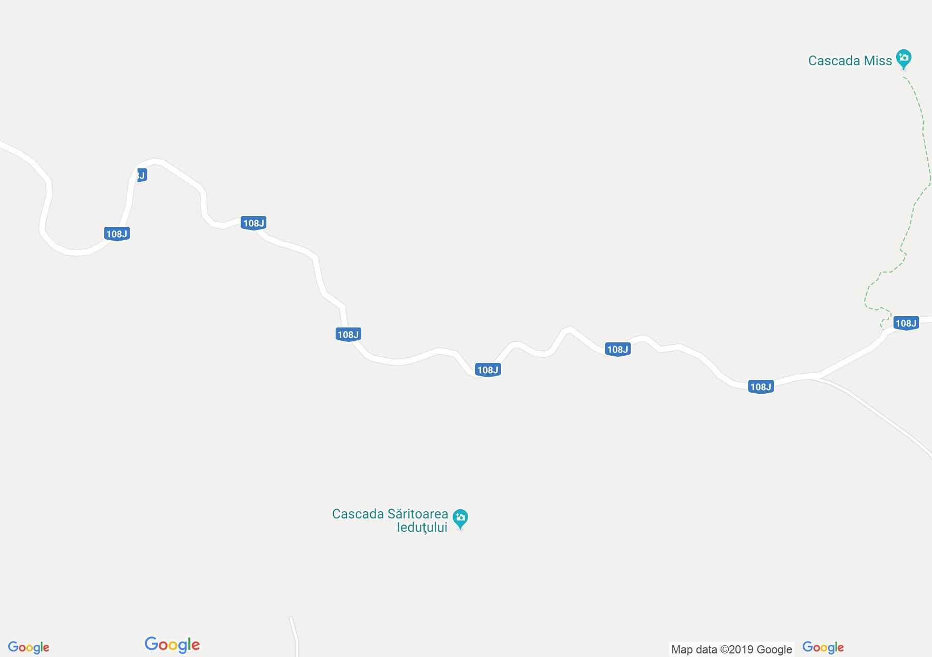 Map of Bihor-Vladeasa, Apuseni mountains: The Săritoarea Ieduţului round