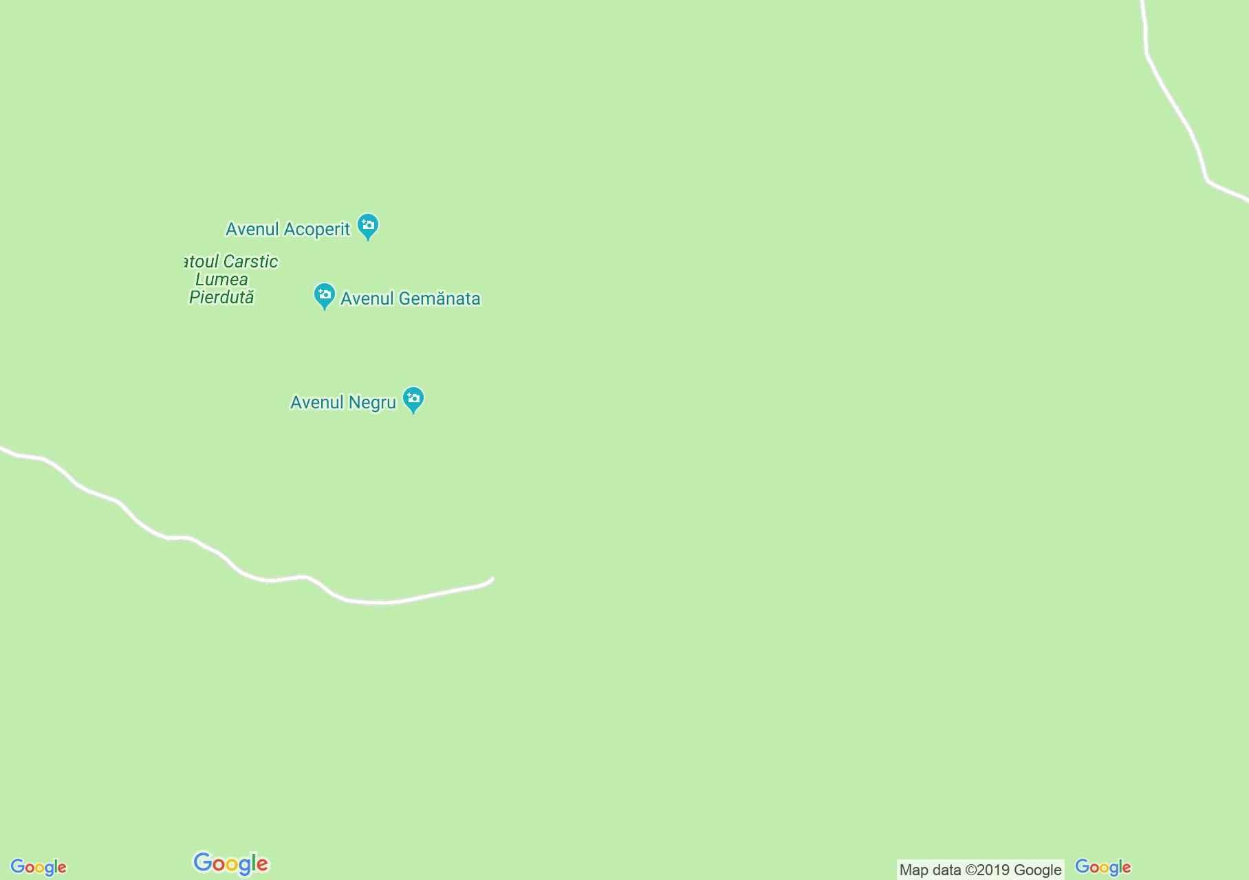 Map of Bihor-Vladeasa, Apuseni mountains: Glăvoi-Casa de Piatră
