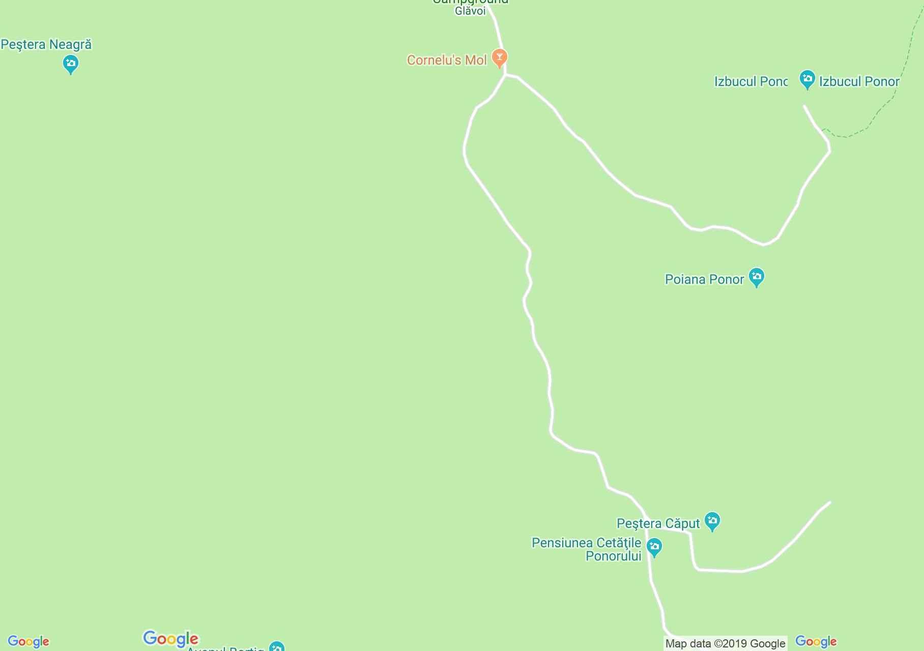 Hartă Bihor-Vlădeasa, Munţii Apuseni: Circuitul Cetăţile Ponorului