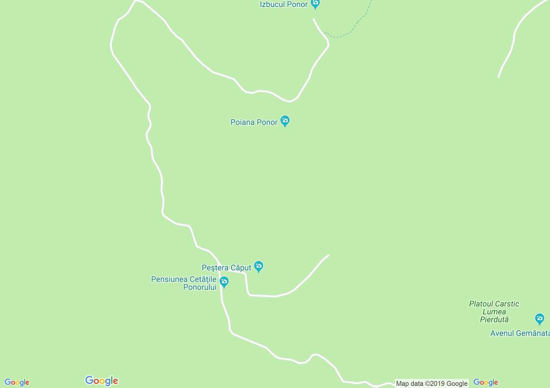 Căput: Hamlet barlang (térkép)
