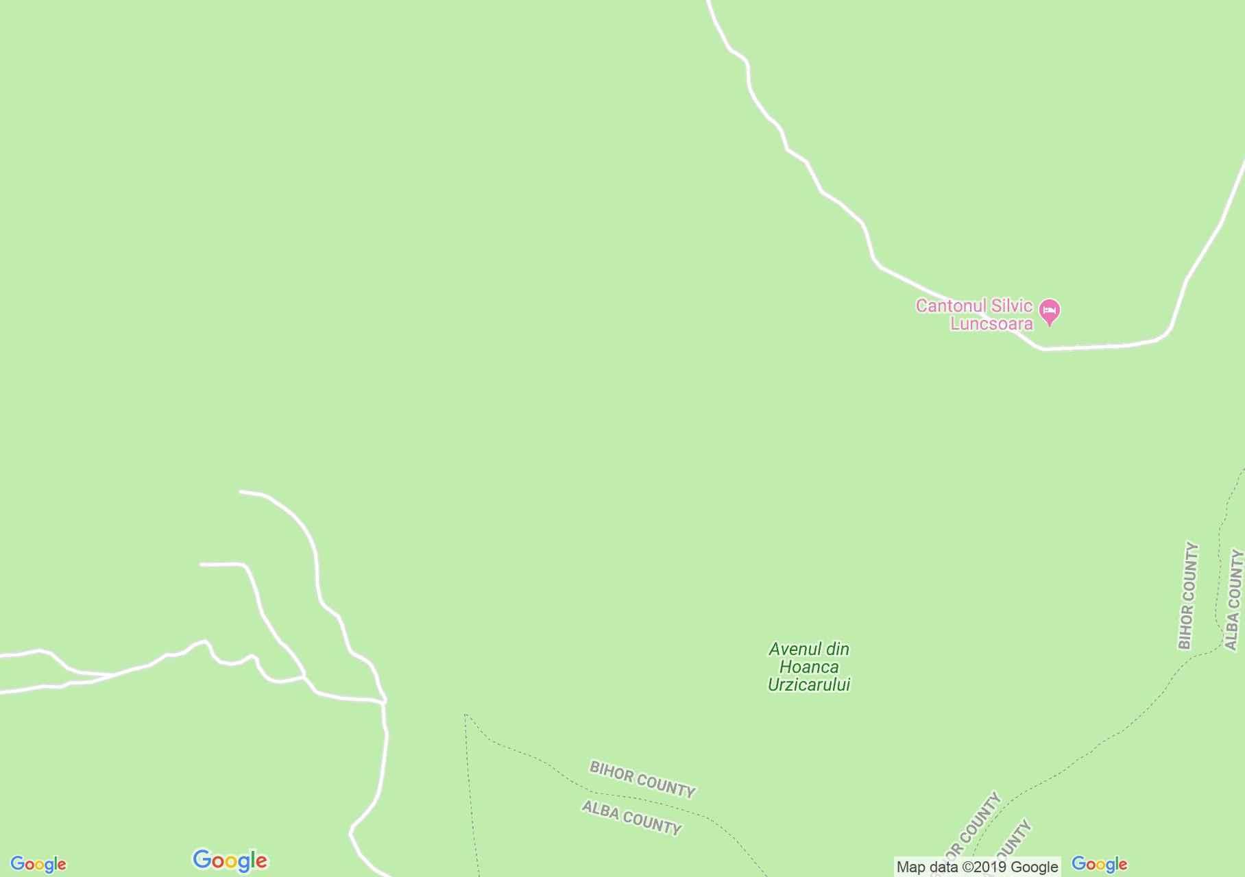 Bihar-Vlegyásza, Erdélyi-szigethegység: Hoanca Urzicarilor zsomboly (térkép)