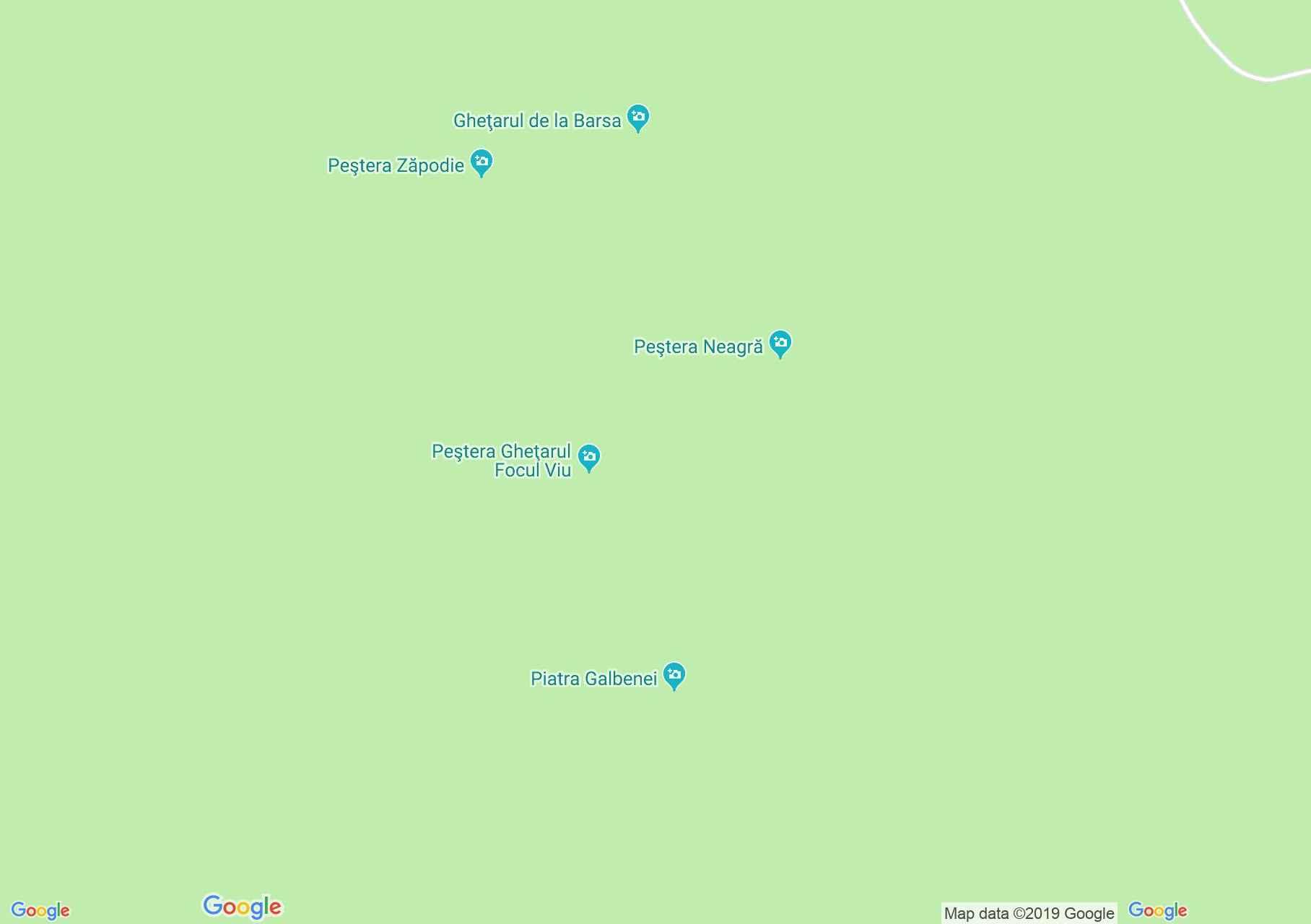 Păuleasa: Galbina kövei (térkép)