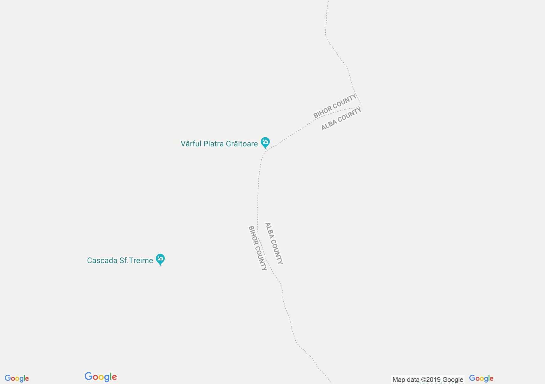 Hartă Bihor-Vlădeasa, Munţii Apuseni: Şaua Vârtop - vârful Bihorul