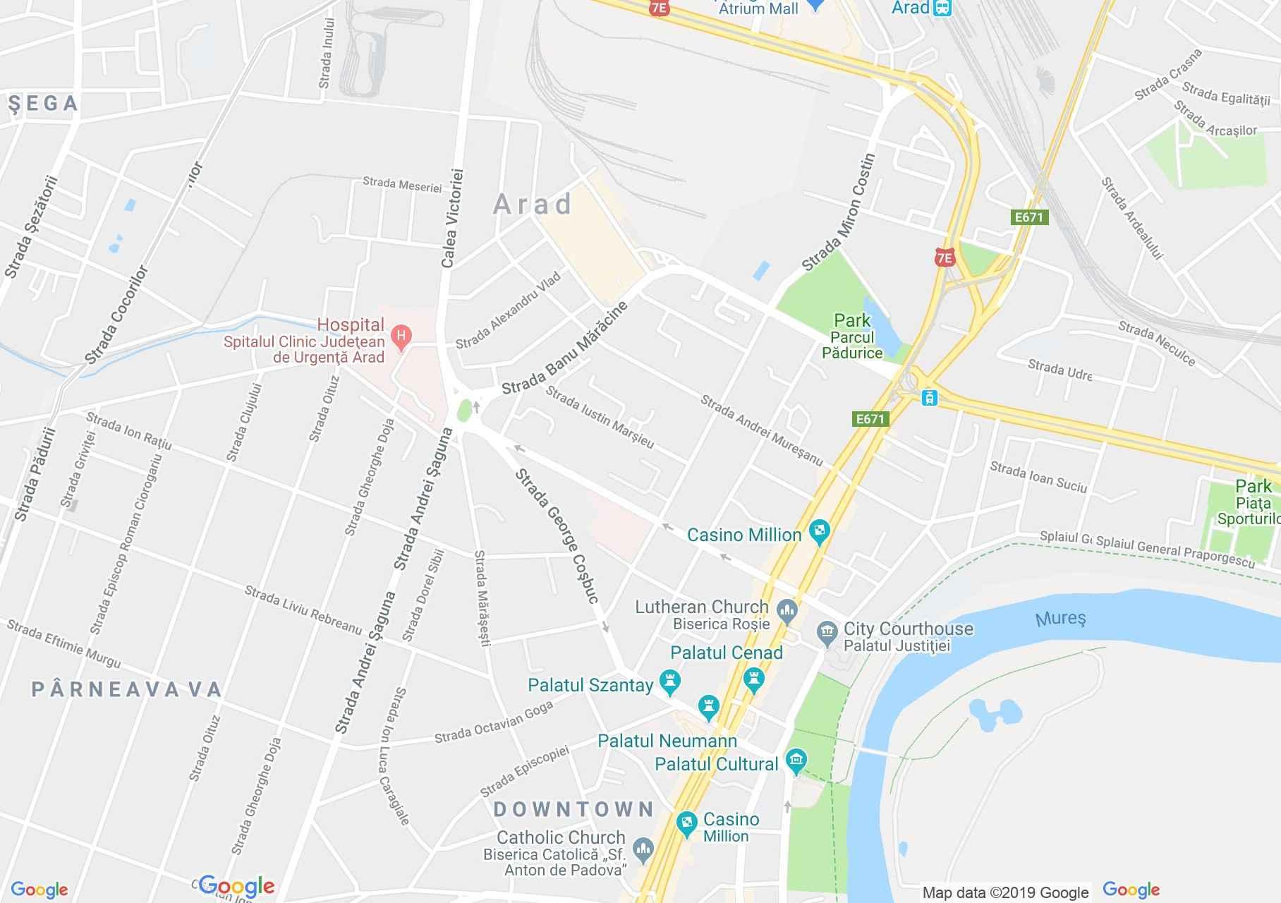 Arad: Megyei könyvtár (térkép)