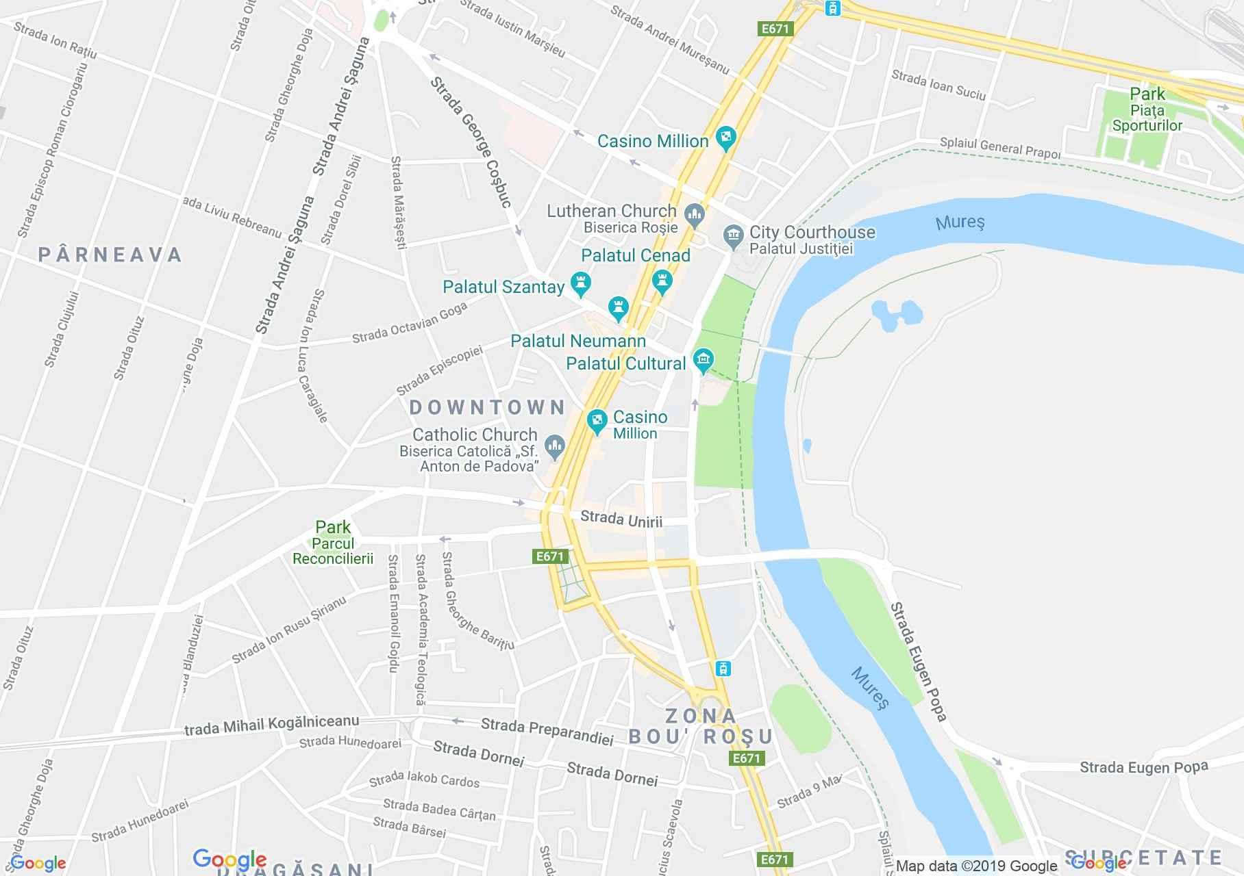 Hartă Arad: Casa cu lacăt