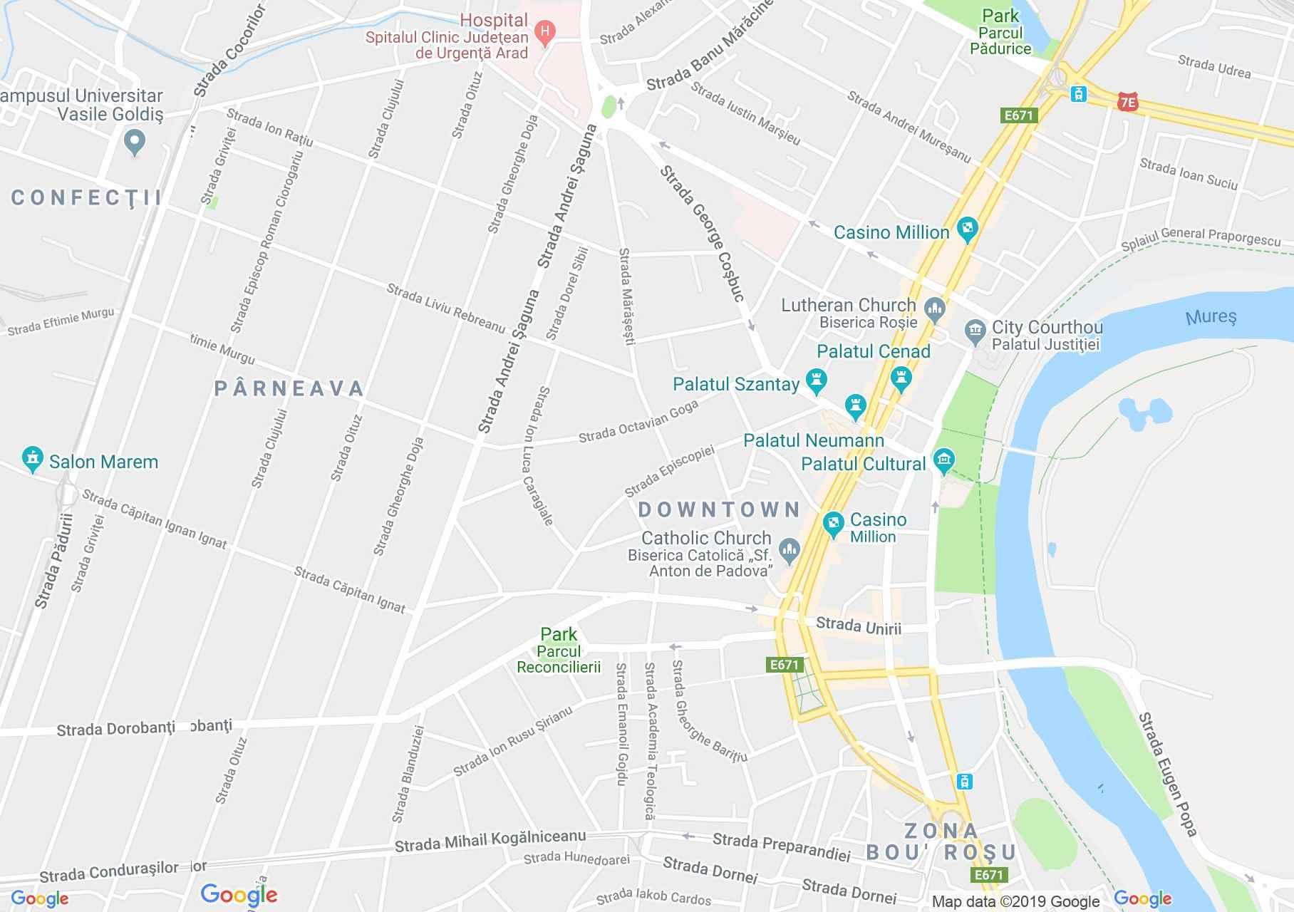Arad: Sf. Ioan Botezătorul ortodox katedrális (térkép)