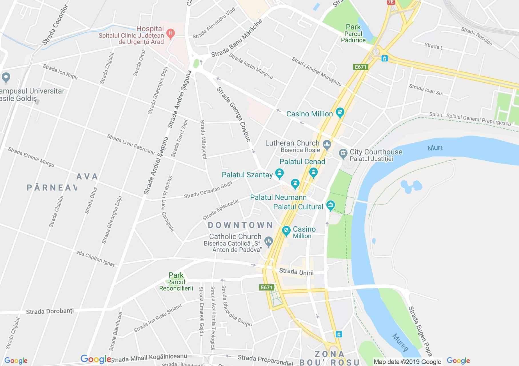 Arad: Ardealul szálló (térkép)