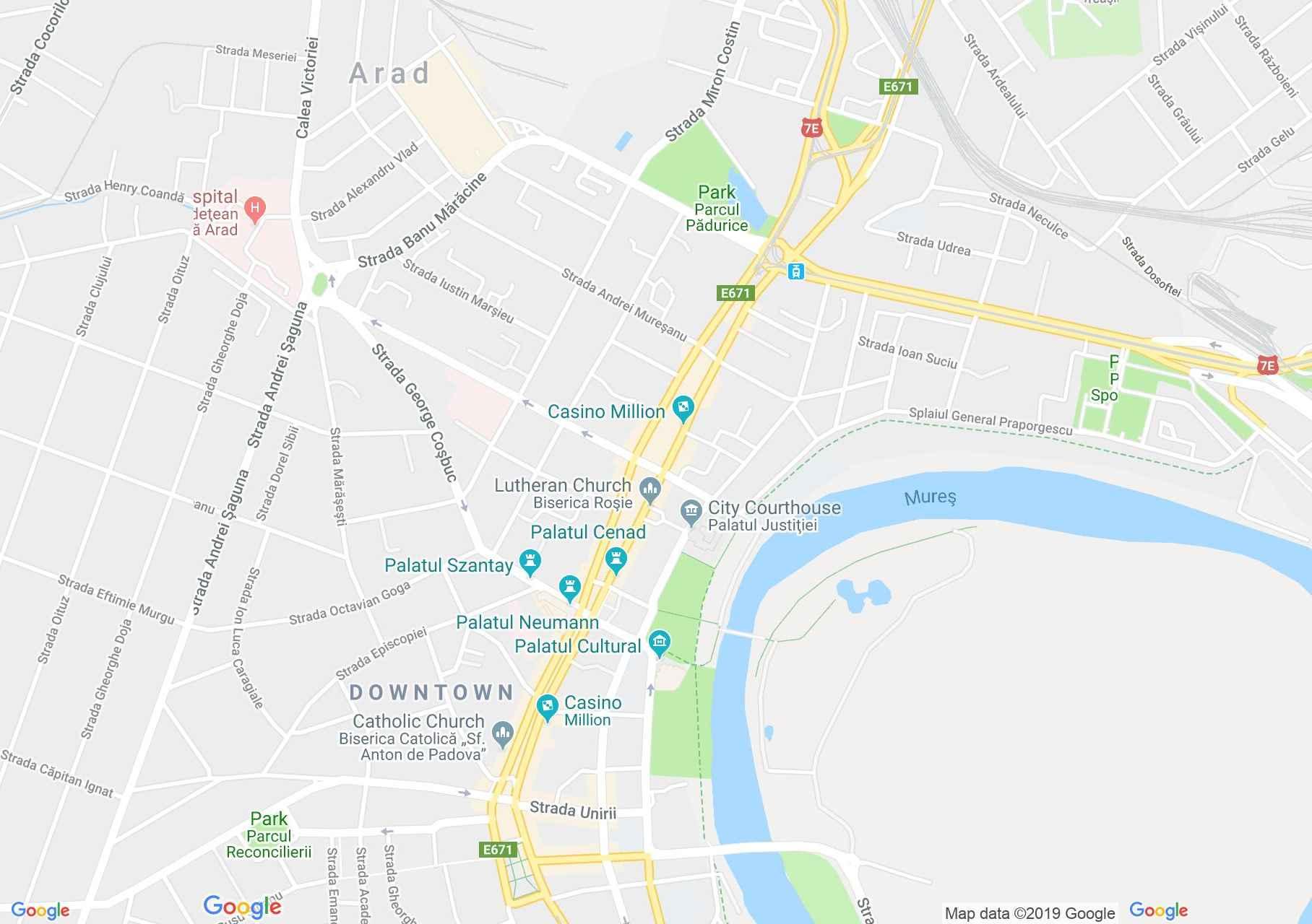 Arad: Kultúr Palota (térkép)