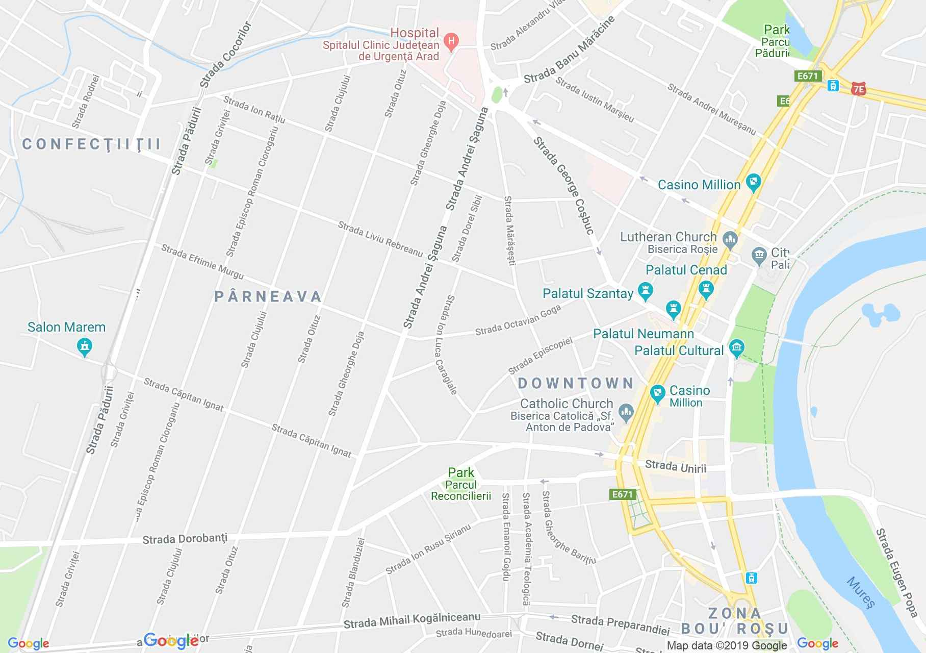 Arad: Megbékélés parkja (térkép)