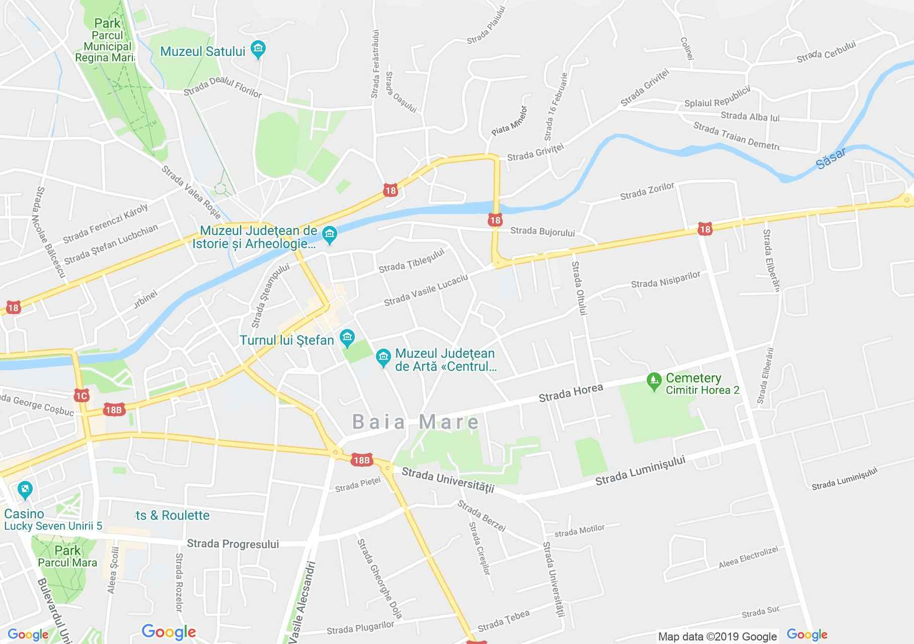 Map of Baia Mare: Baia Mare