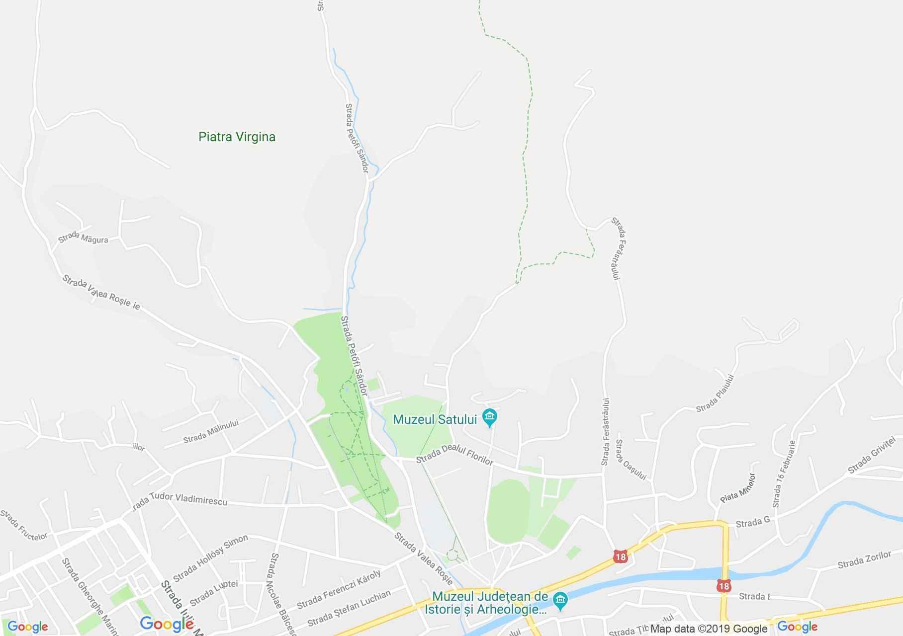 Nagybánya: Néprajz múzeum (térkép)
