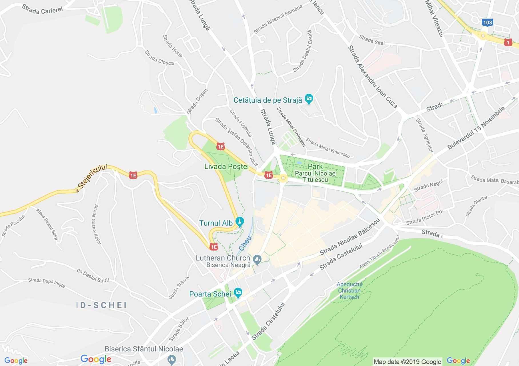 Brassó: Fekete templom (térkép)