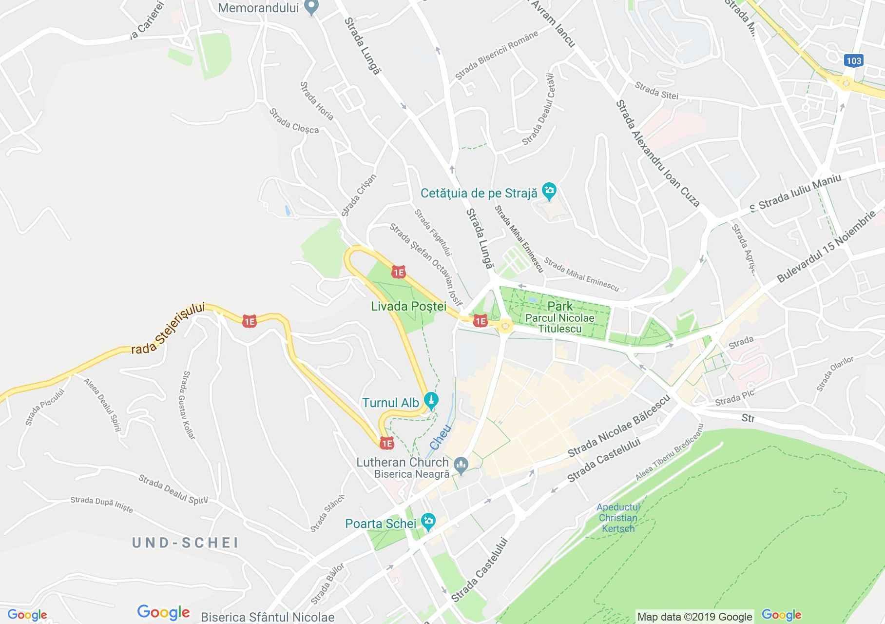 Brassó: A Szentháromság templom (térkép)