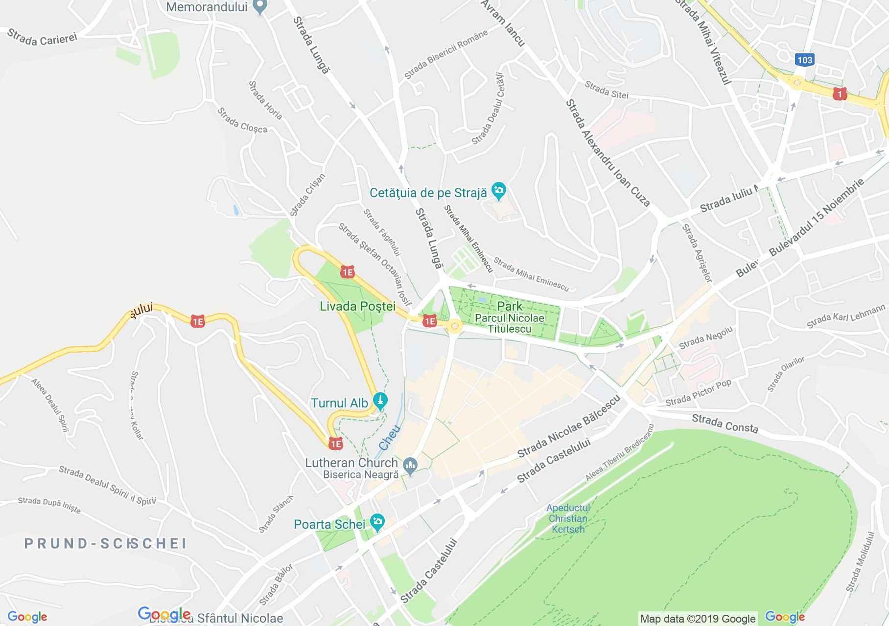 Brassó: A Kereskedők háza, vagy Hirscher ház (térkép)