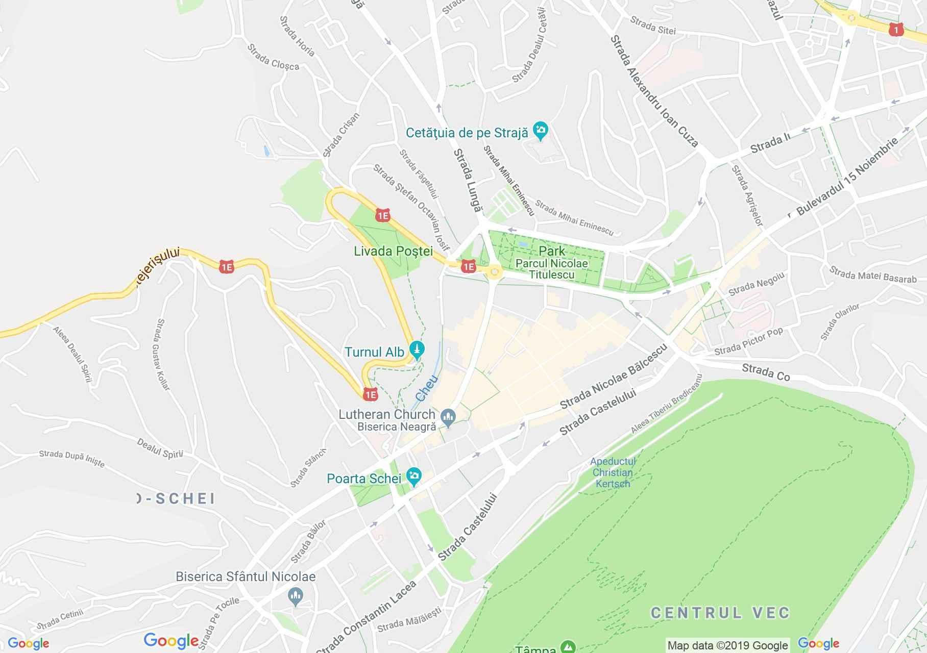 Brassó: Zsinor utca (térkép)