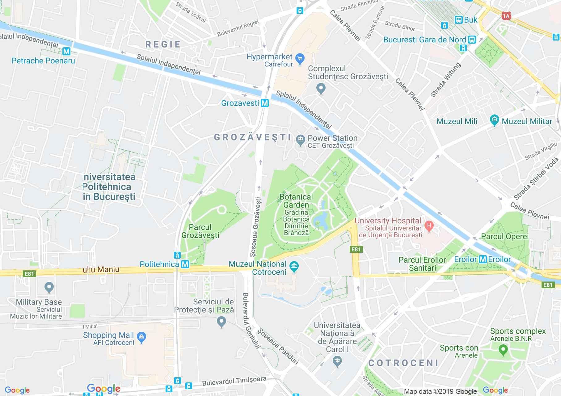 Hartă Bucuresti: Palatul Cotroceni