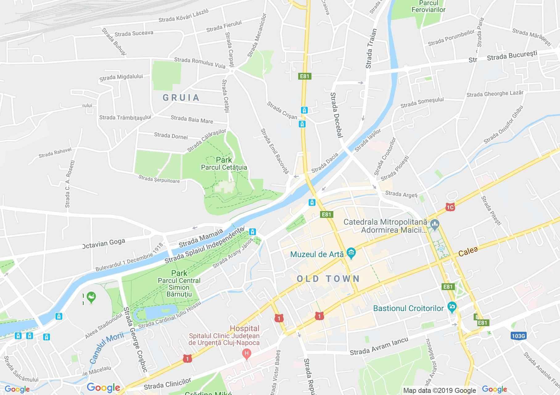 Map of Cluj-Napoca: Austria-Hungary Bank