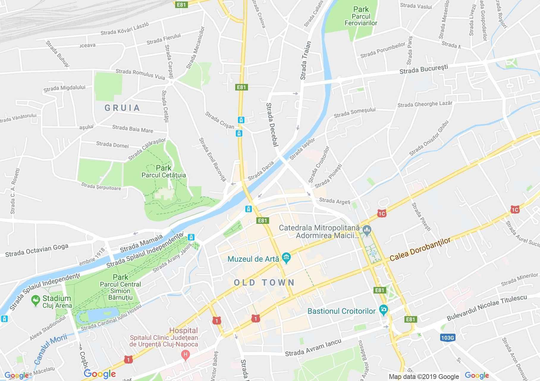 Kolozsvár: Szent Mihály templom (térkép)