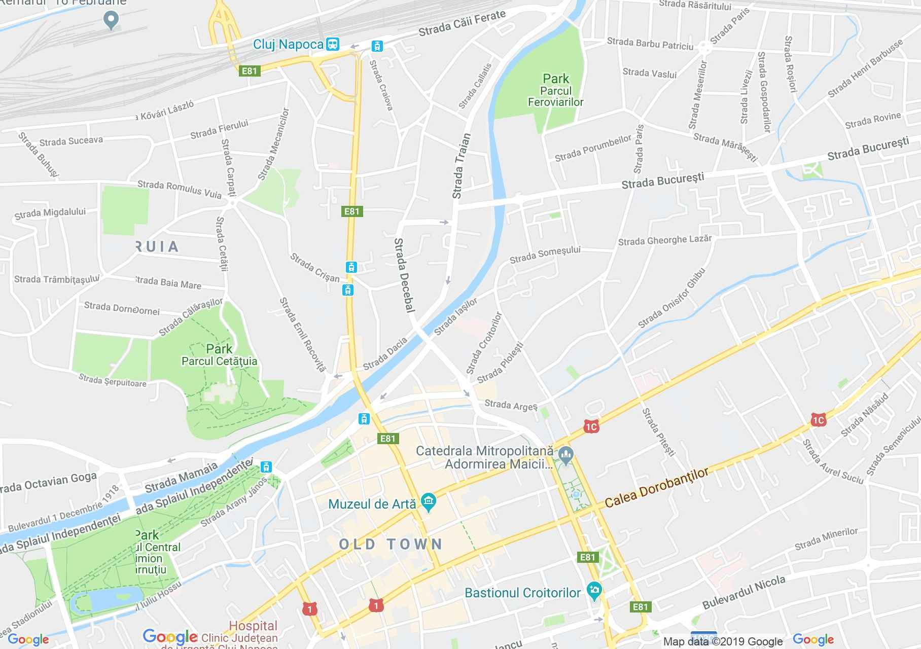 Kolozsvár: Unitárius templom (térkép)
