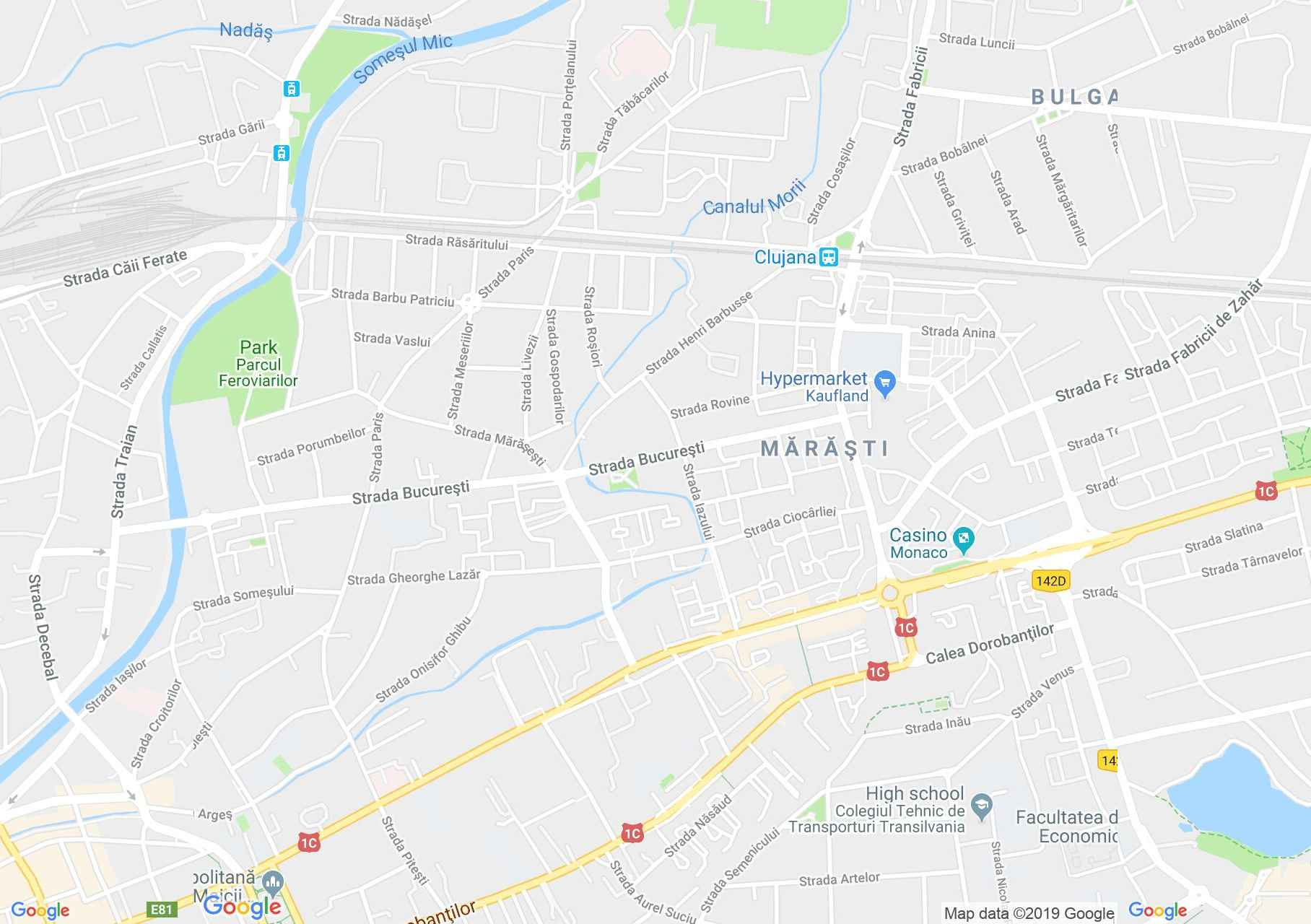 Hartă Cluj-Napoca: Centru de bătrâni şi săraci Sf. Francisc şi Sf. Elisabeta