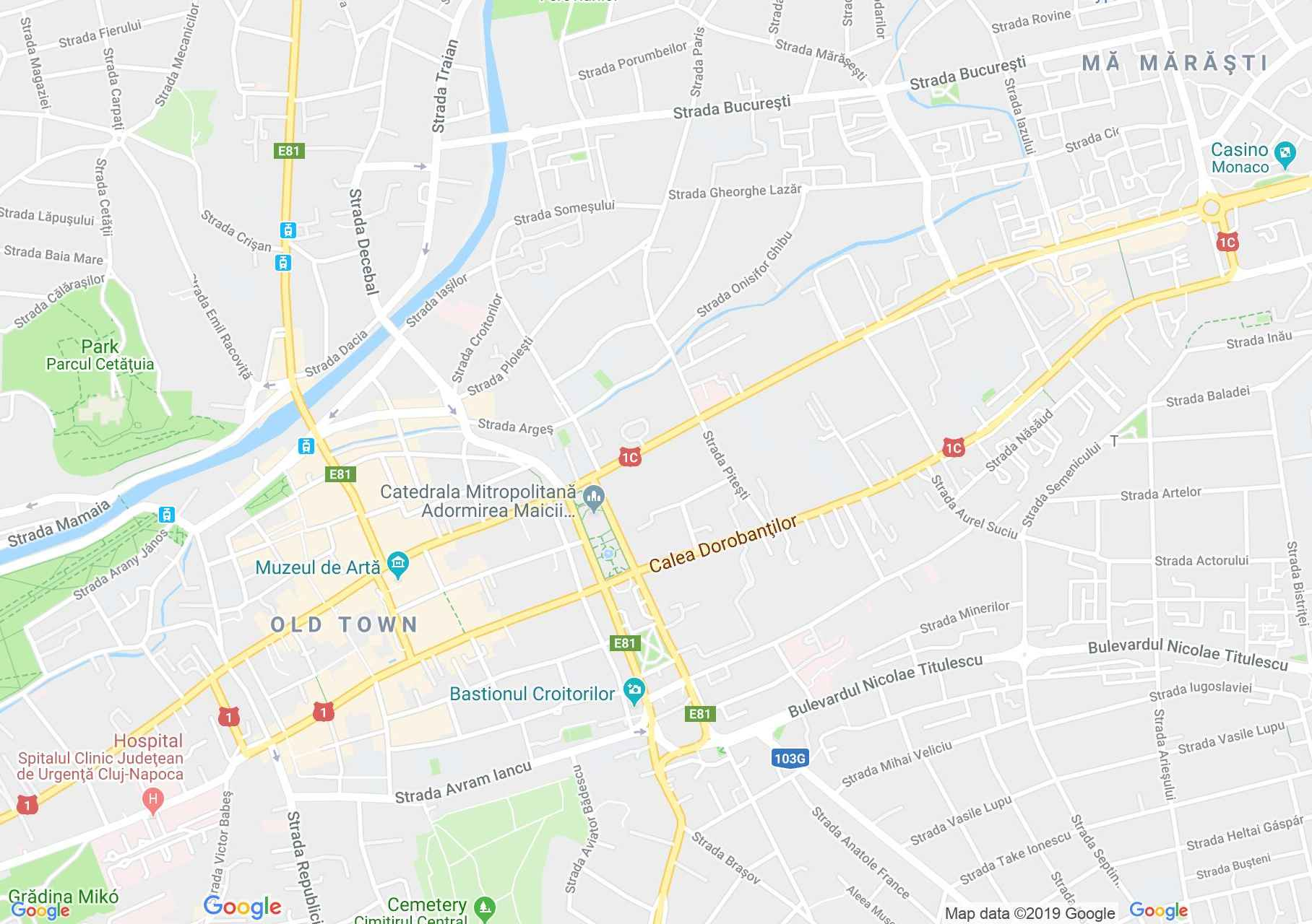 Map of Cluj-Napoca: Teachers house