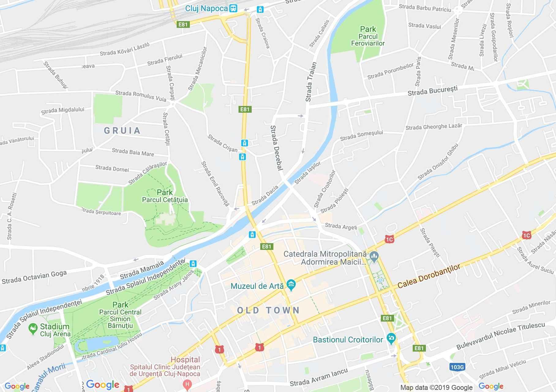 Hartă Cluj-Napoca: Casa Kemény