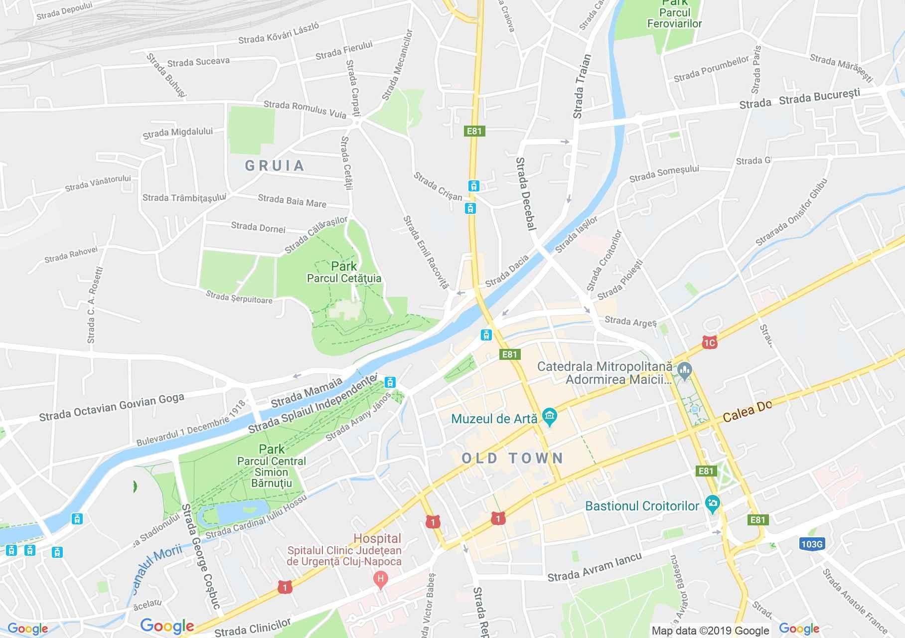 Kolozsvár: Nemes ház (térkép)