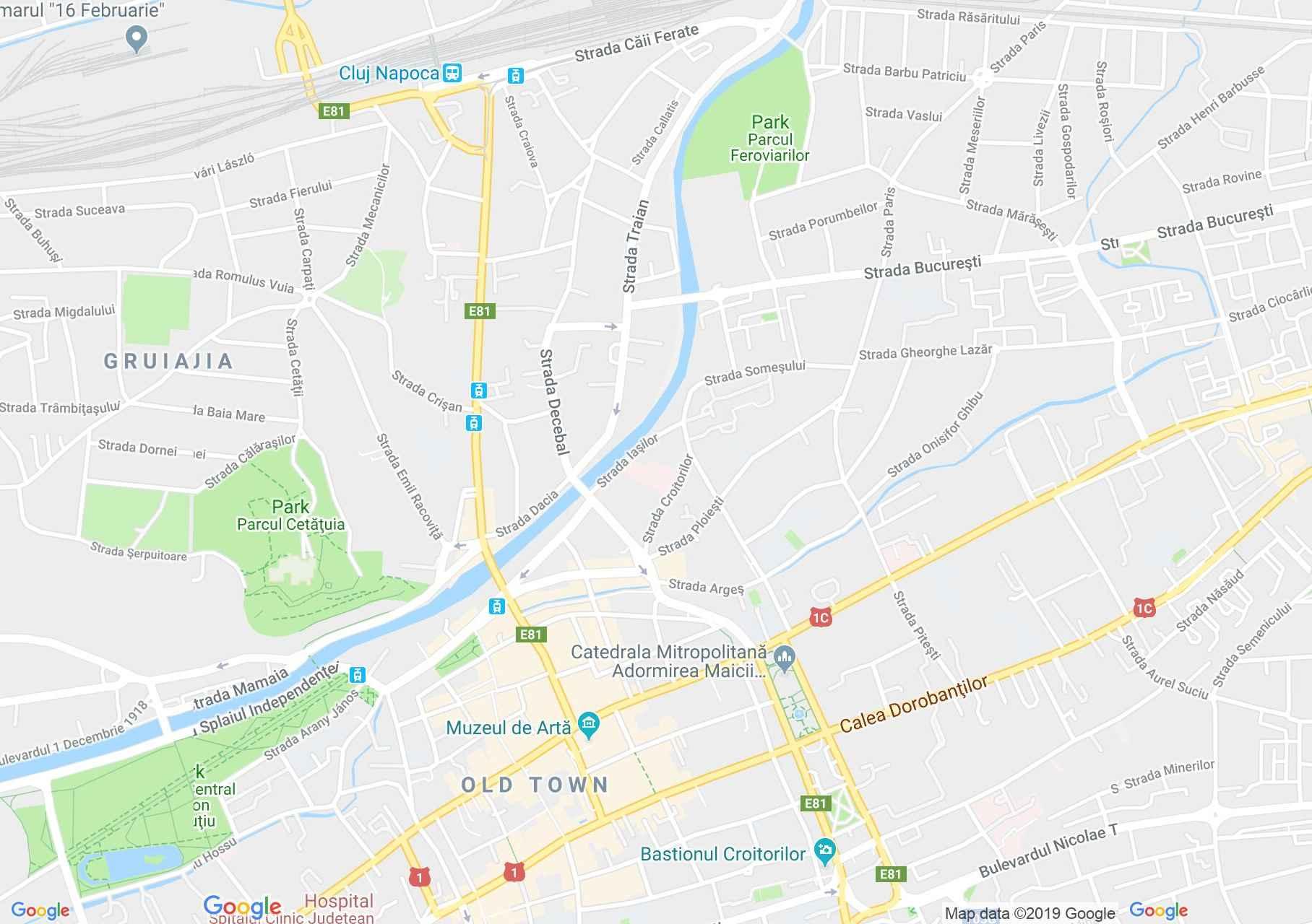 Kolozsvár: Unitárius kollégium (térkép)