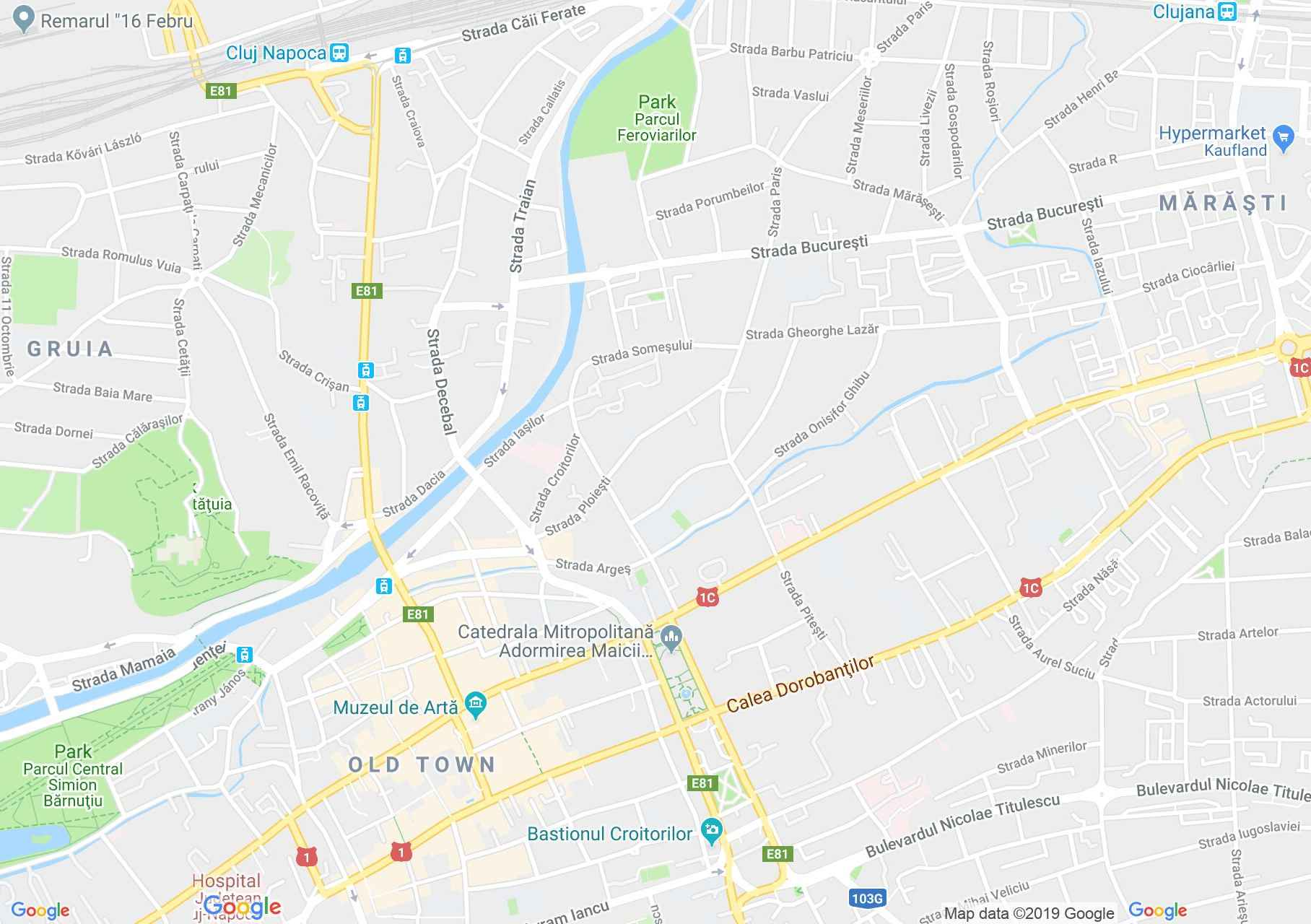 Map of Cluj-Napoca: Farmers credit unions