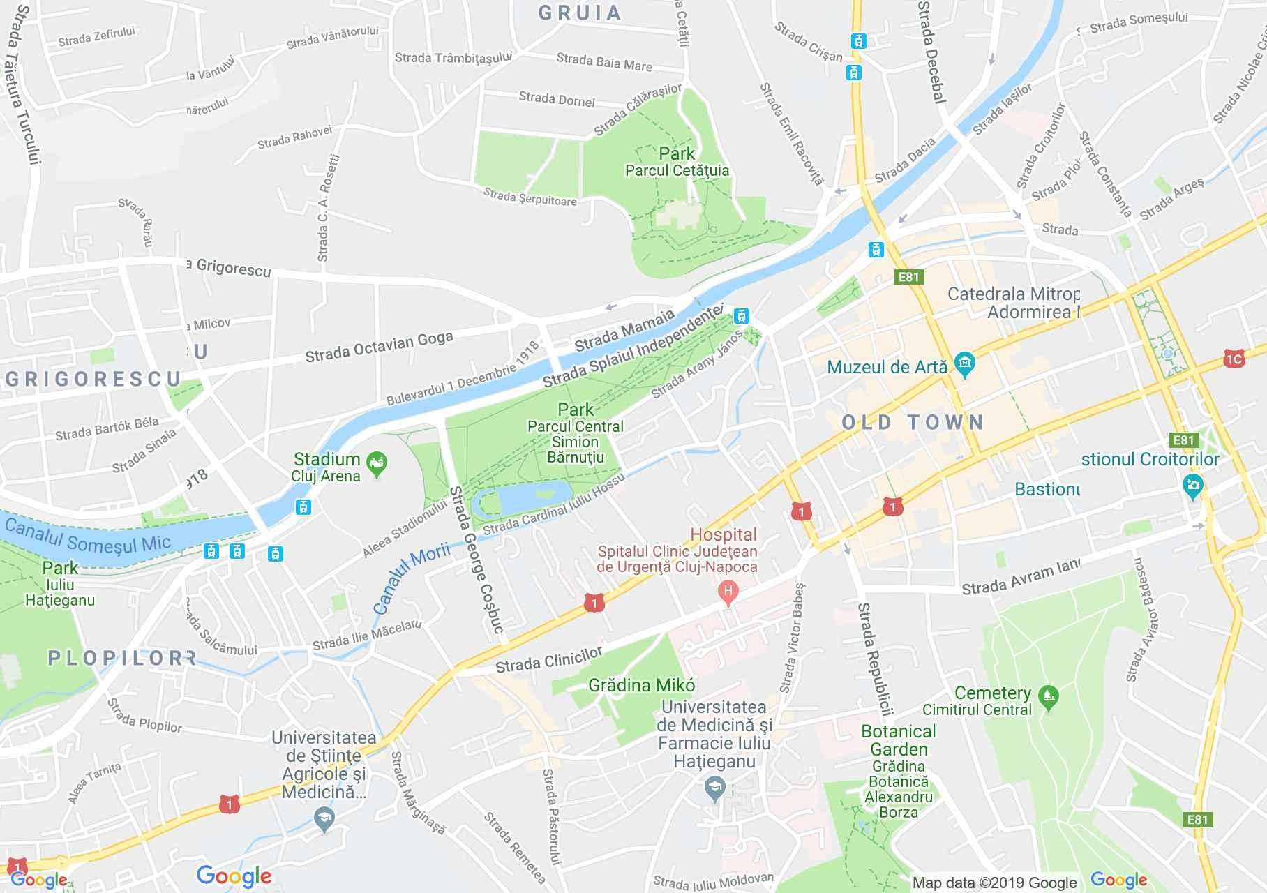 Kolozsvár: Mikó-kert (térkép)