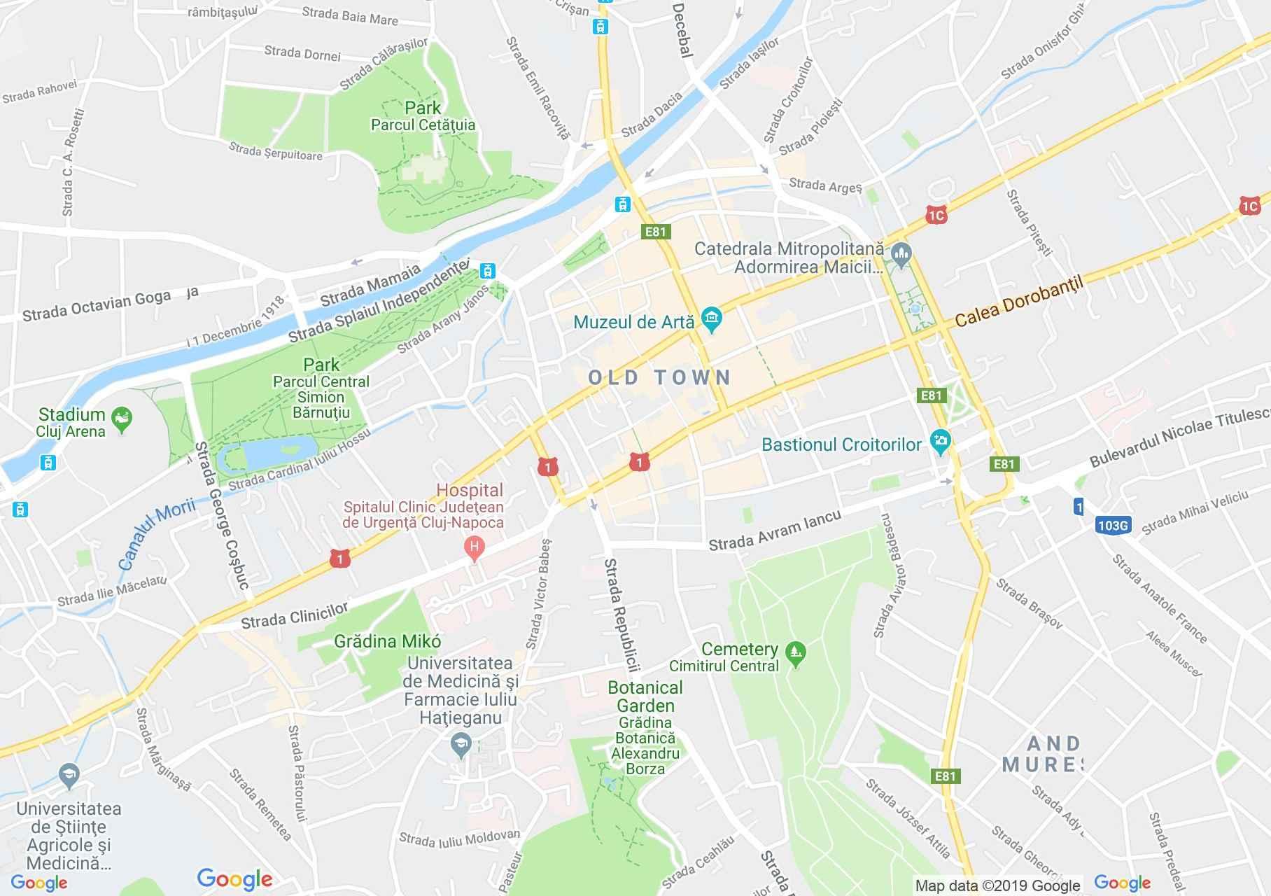 Hartă Cluj-Napoca: Pensiunea  Siago