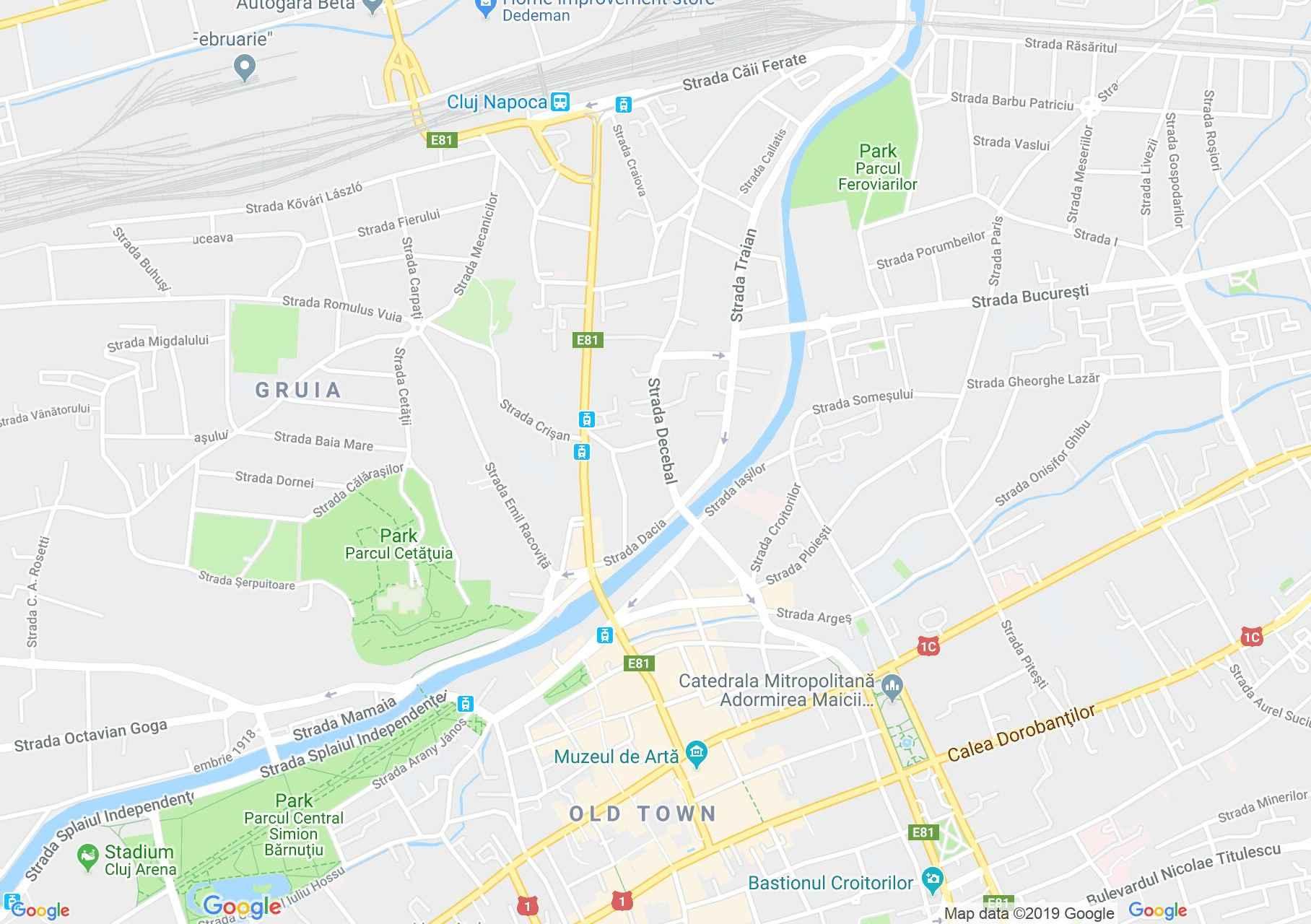 Kolozsvár: Transilvania szálló (térkép)