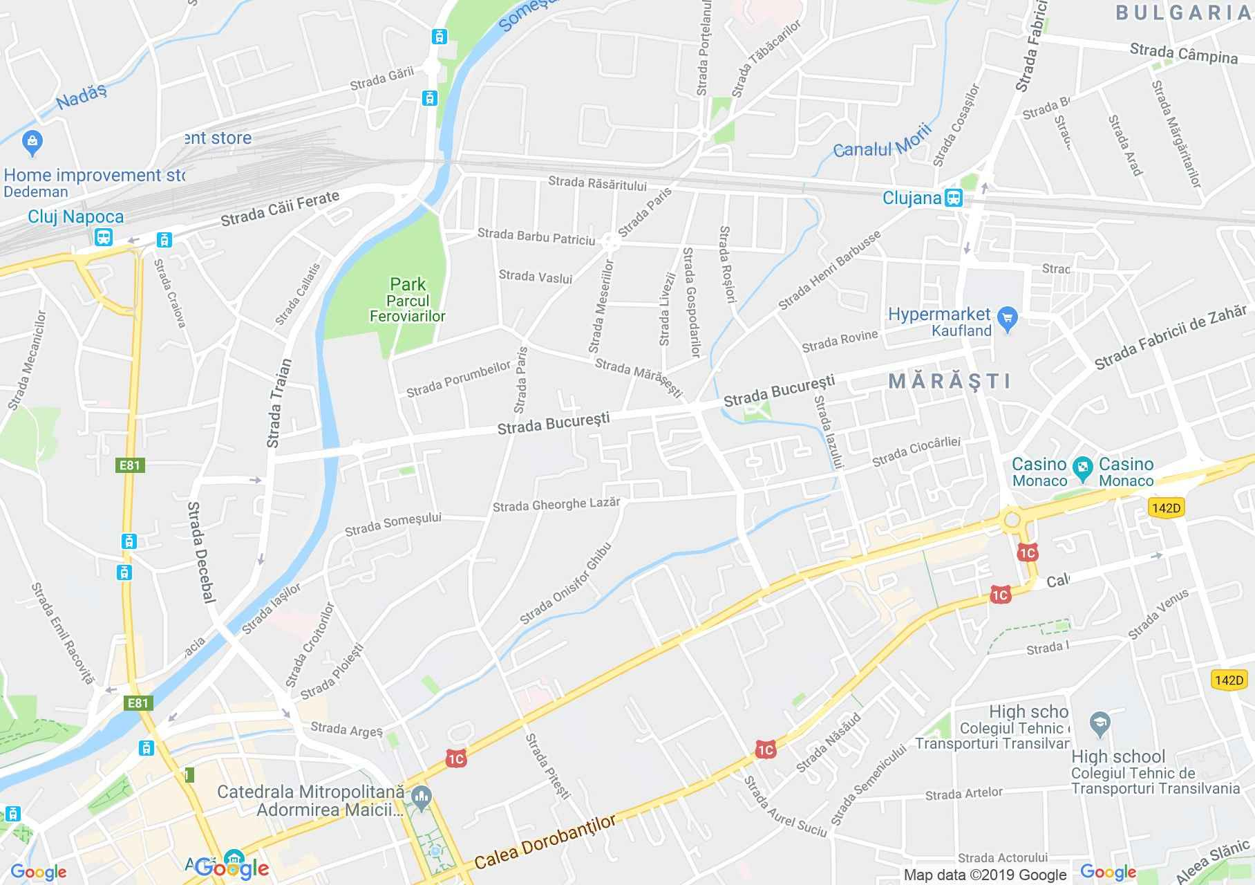 Kolozsvár: Az első Rákkutató Intézet (térkép)