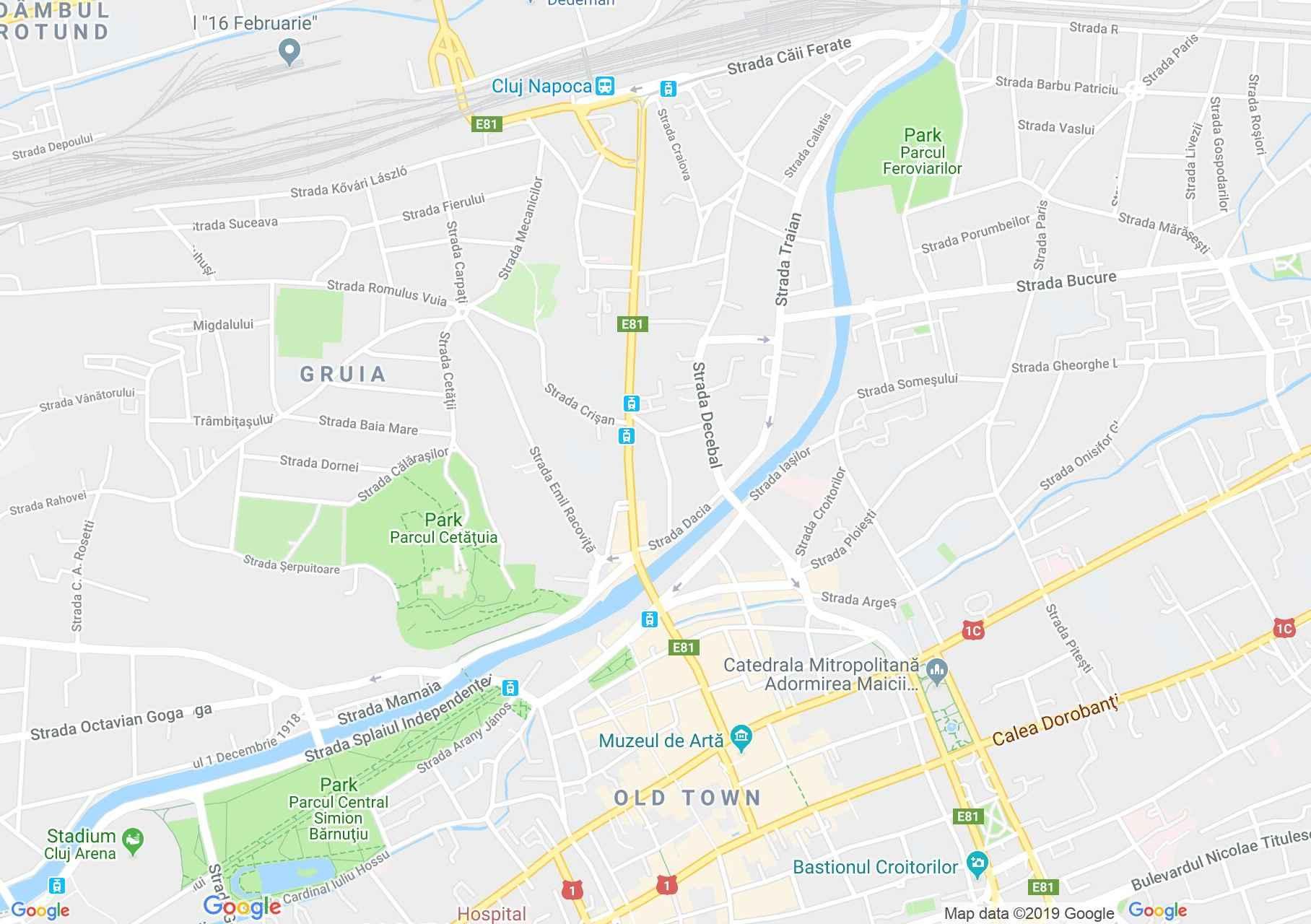 Kolozsvár: Ferenc-rendi zárda (térkép)