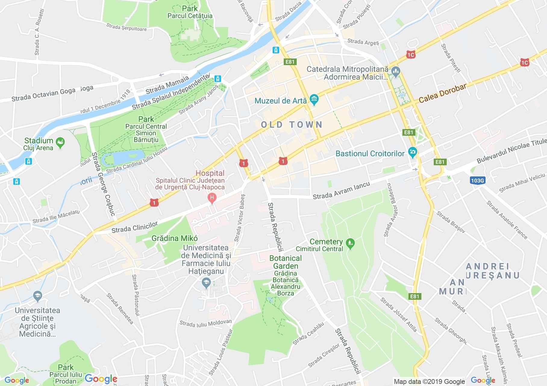 Kolozsvár: Botanikai múzeum (térkép)